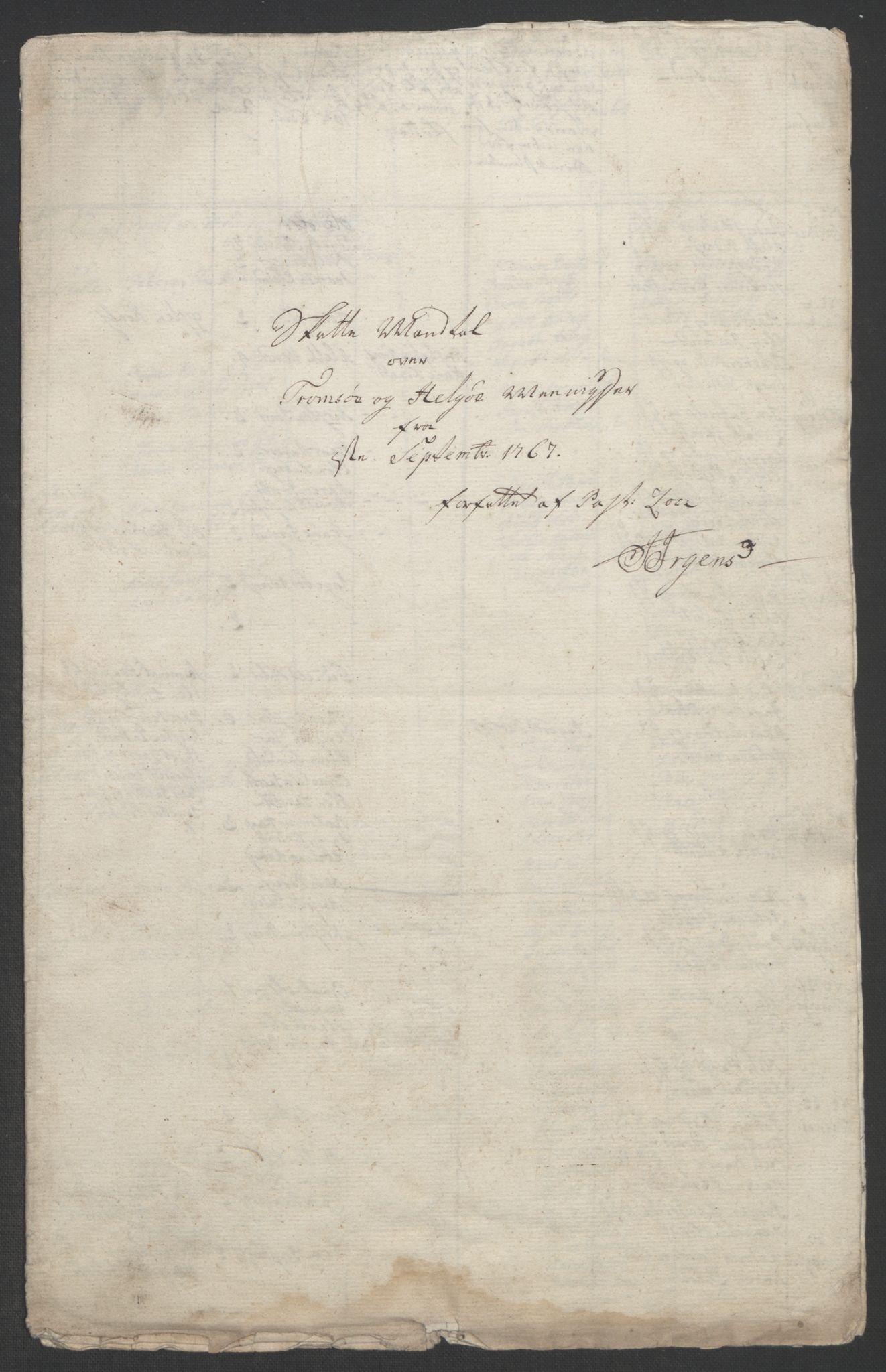 RA, Rentekammeret inntil 1814, Realistisk ordnet avdeling, Ol/L0022b: [Gg 10]: Ekstraskatten, 23.09.1762. Senja og Troms, 1765-1768, s. 331