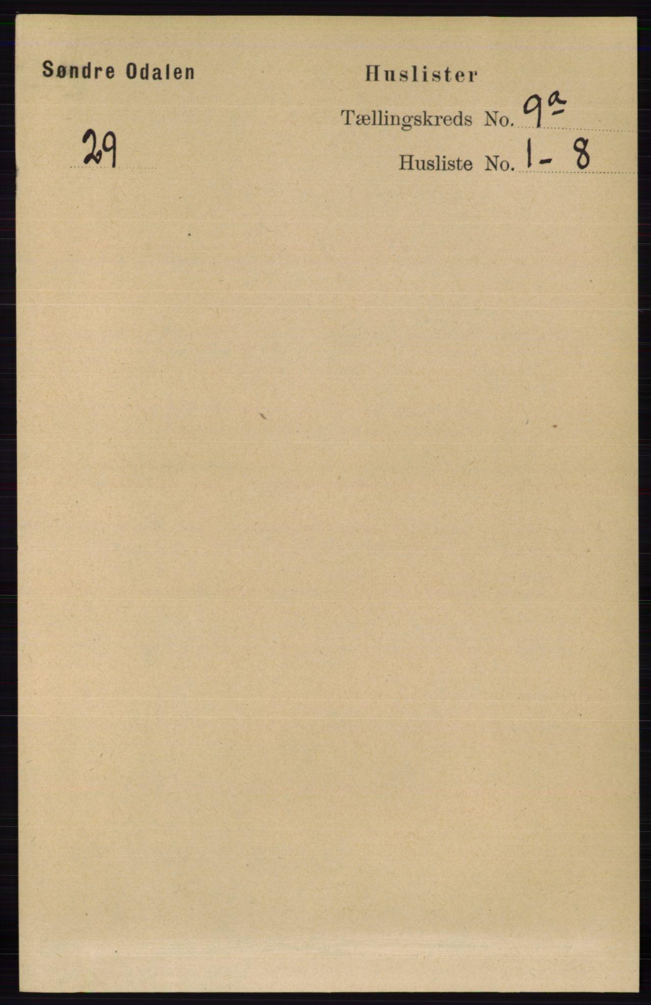 RA, Folketelling 1891 for 0419 Sør-Odal herred, 1891, s. 4060