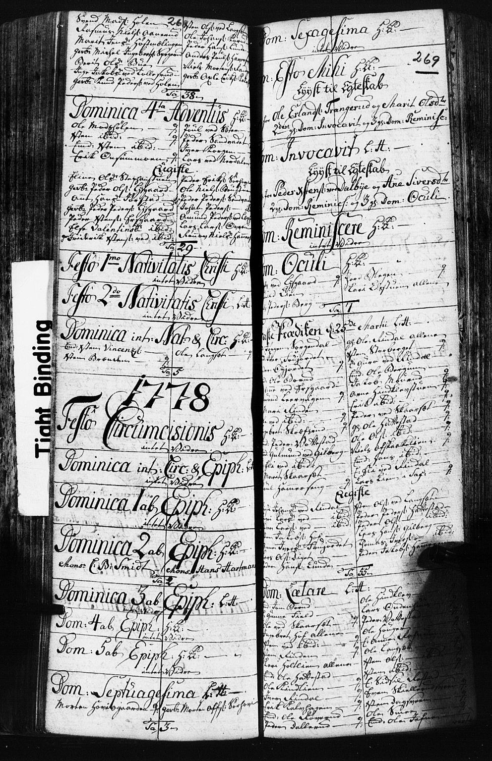 SAH, Fåberg prestekontor, Klokkerbok nr. 3, 1768-1796, s. 268-269