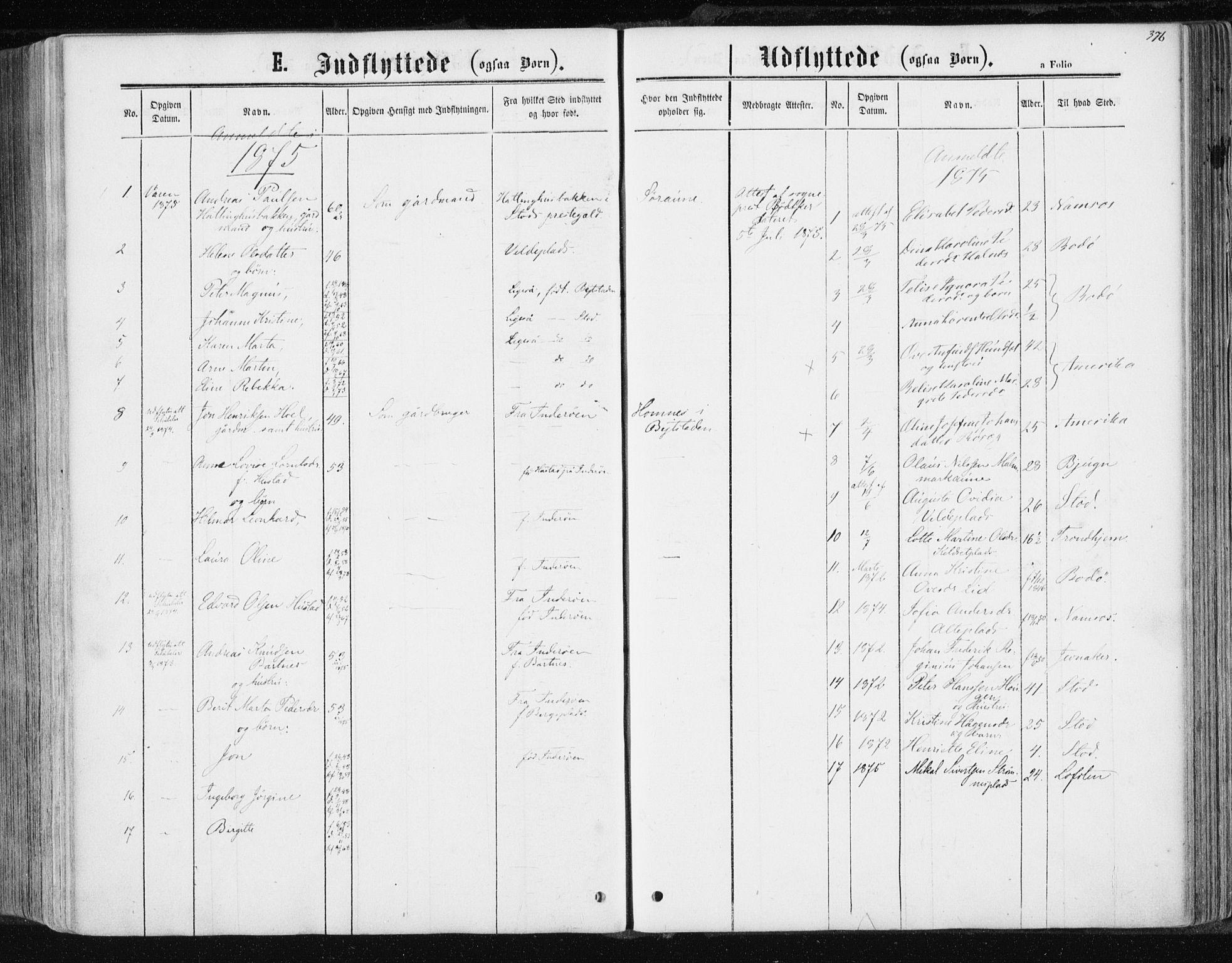 SAT, Ministerialprotokoller, klokkerbøker og fødselsregistre - Nord-Trøndelag, 741/L0394: Ministerialbok nr. 741A08, 1864-1877, s. 376