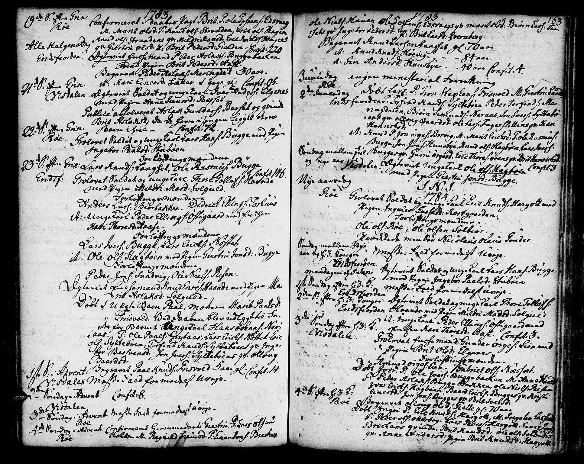 SAT, Ministerialprotokoller, klokkerbøker og fødselsregistre - Møre og Romsdal, 551/L0621: Ministerialbok nr. 551A01, 1757-1803, s. 163