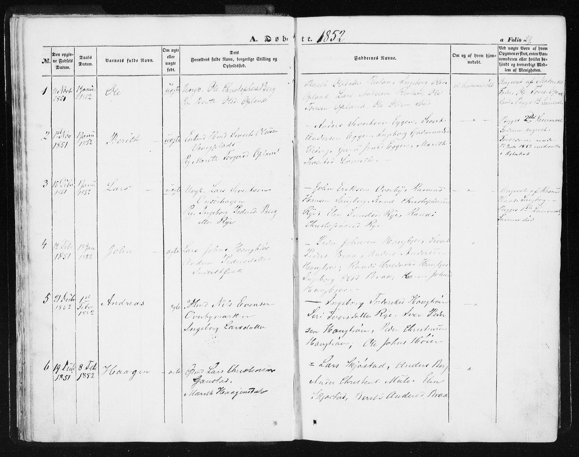 SAT, Ministerialprotokoller, klokkerbøker og fødselsregistre - Sør-Trøndelag, 612/L0376: Ministerialbok nr. 612A08, 1846-1859, s. 29