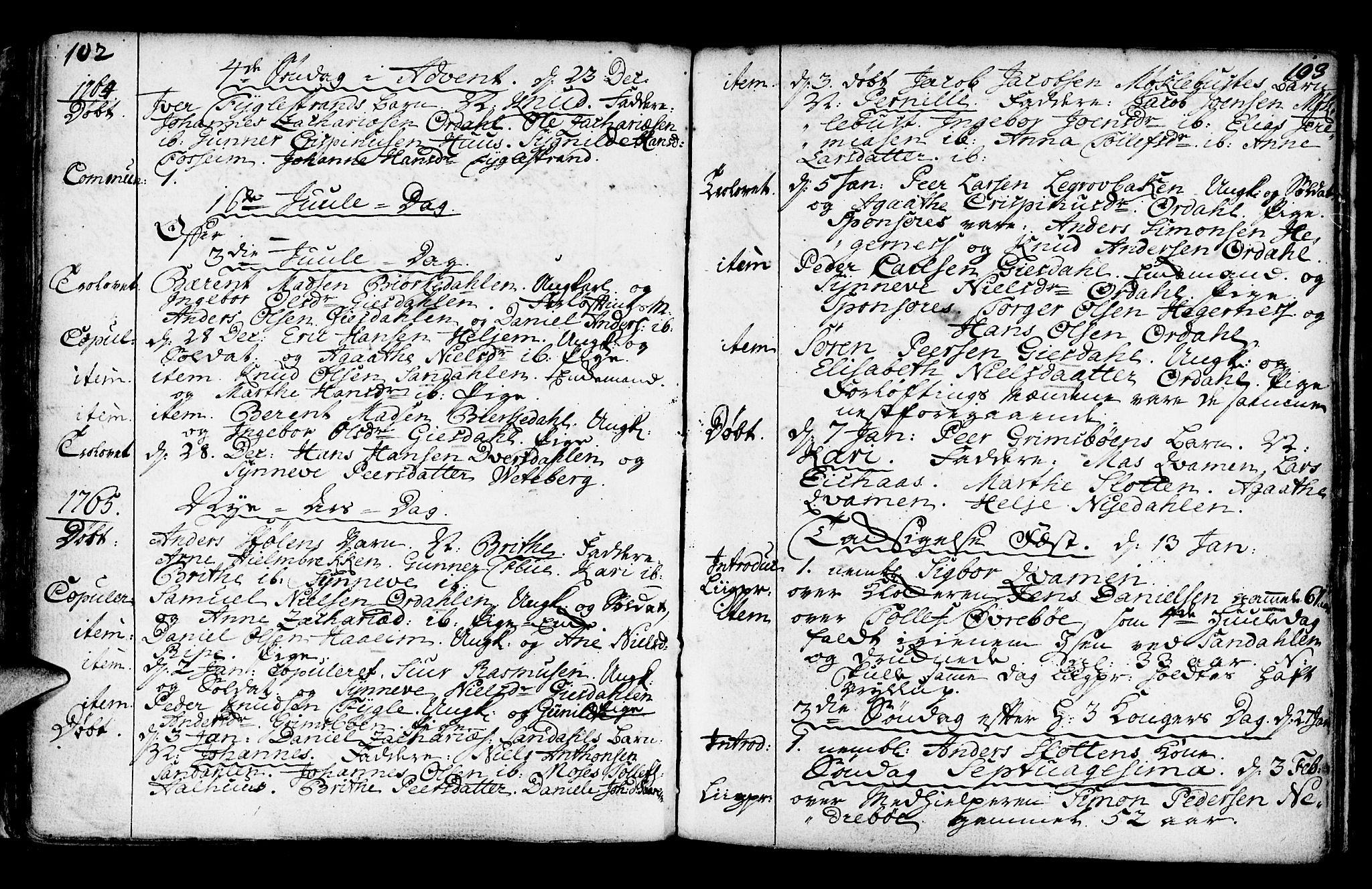 SAB, Jølster Sokneprestembete, Ministerialbok nr. A 3, 1748-1789, s. 102-103