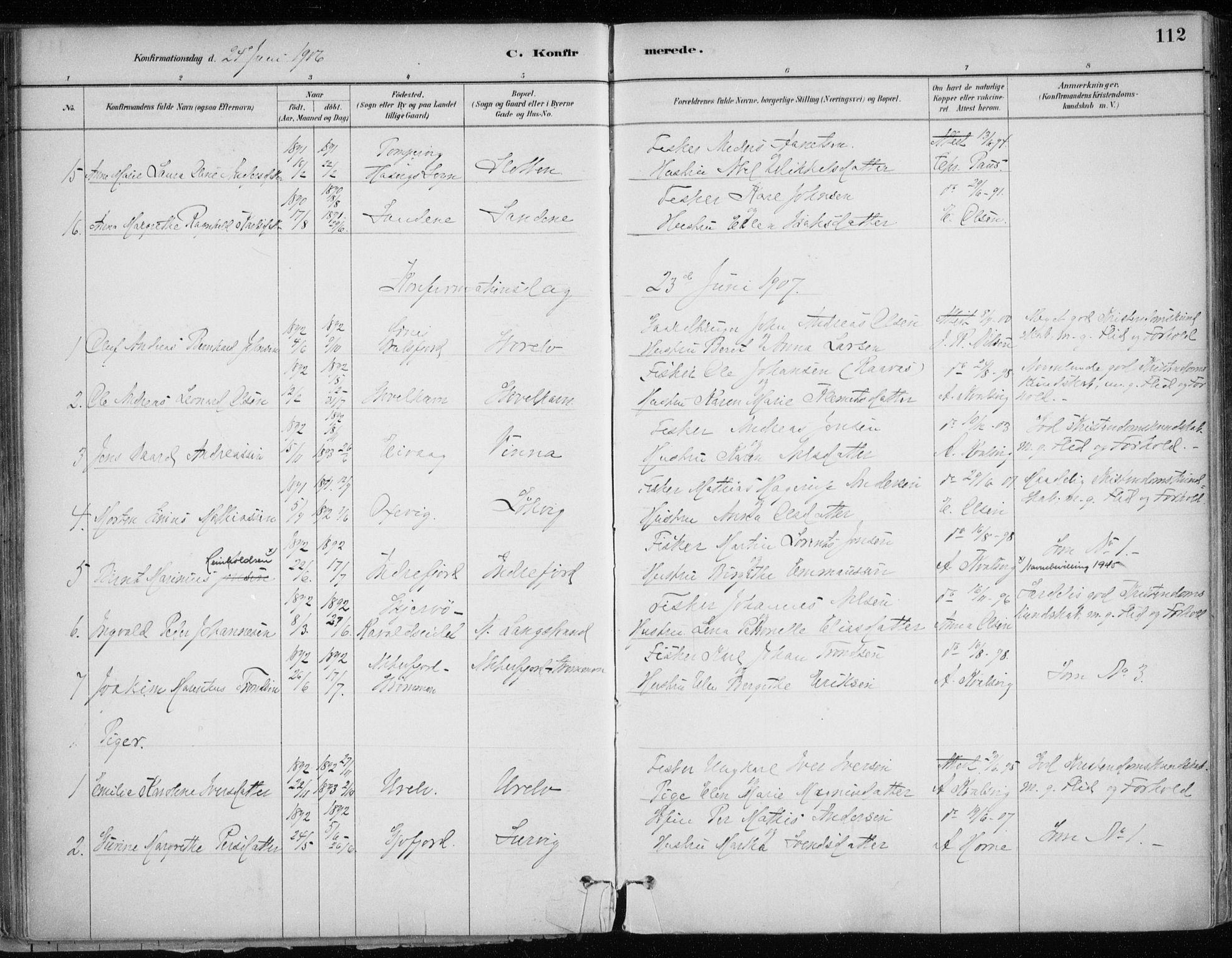 SATØ, Hammerfest sokneprestkontor, H/Ha/L0013.kirke: Ministerialbok nr. 13, 1898-1917, s. 112