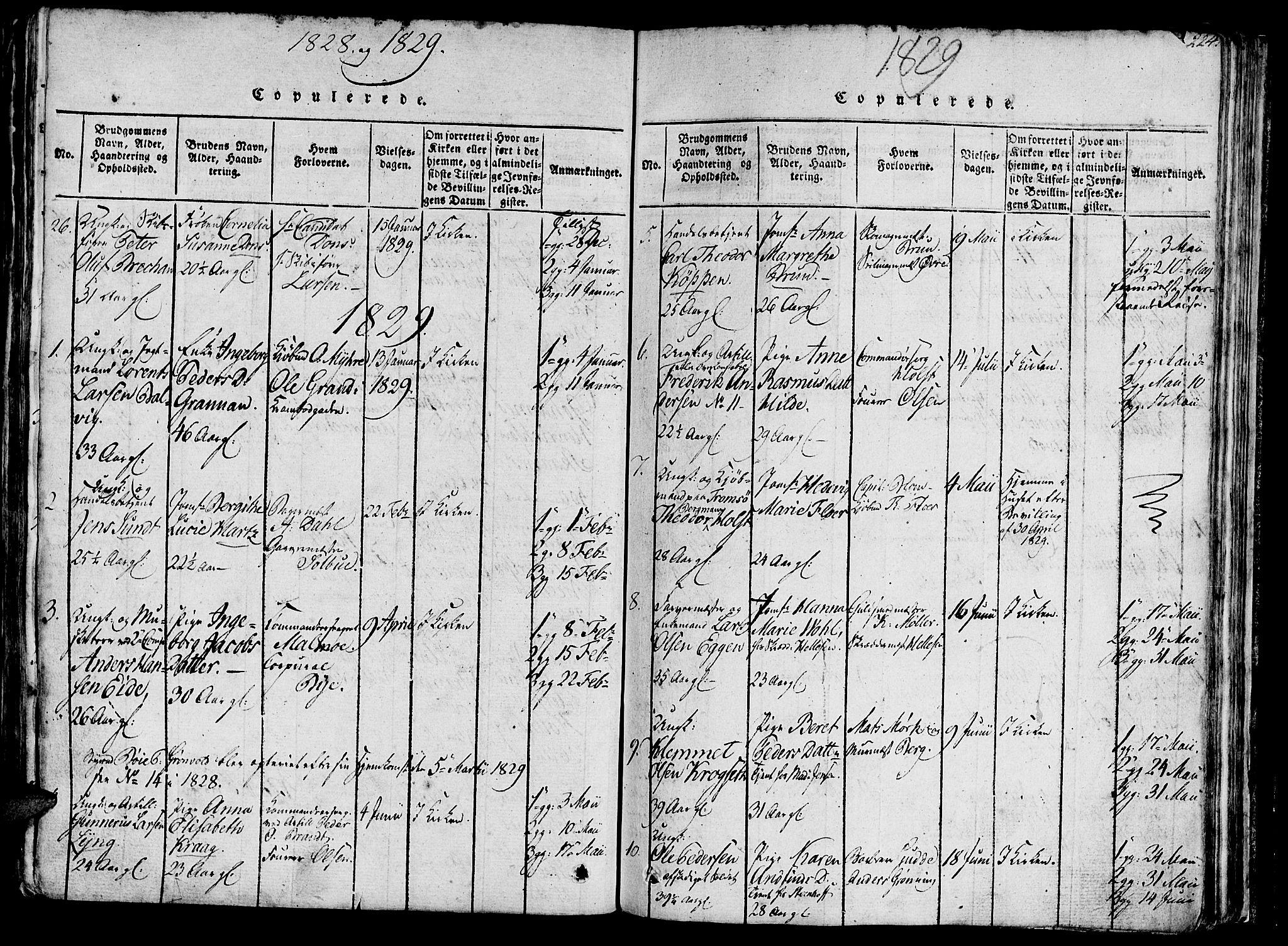 SAT, Ministerialprotokoller, klokkerbøker og fødselsregistre - Sør-Trøndelag, 602/L0135: Klokkerbok nr. 602C03, 1815-1832, s. 224