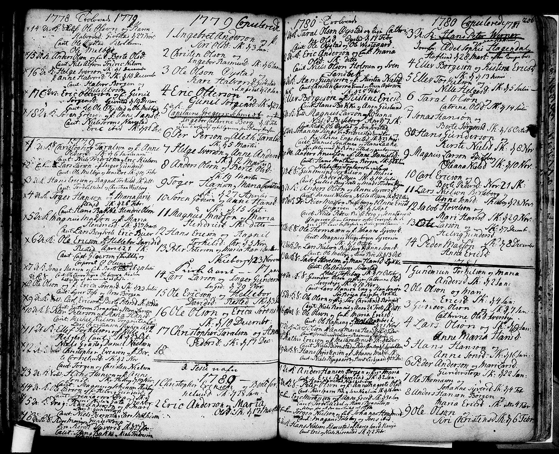 SAO, Skjeberg prestekontor Kirkebøker, F/Fa/L0002: Ministerialbok nr. I 2, 1726-1791, s. 206