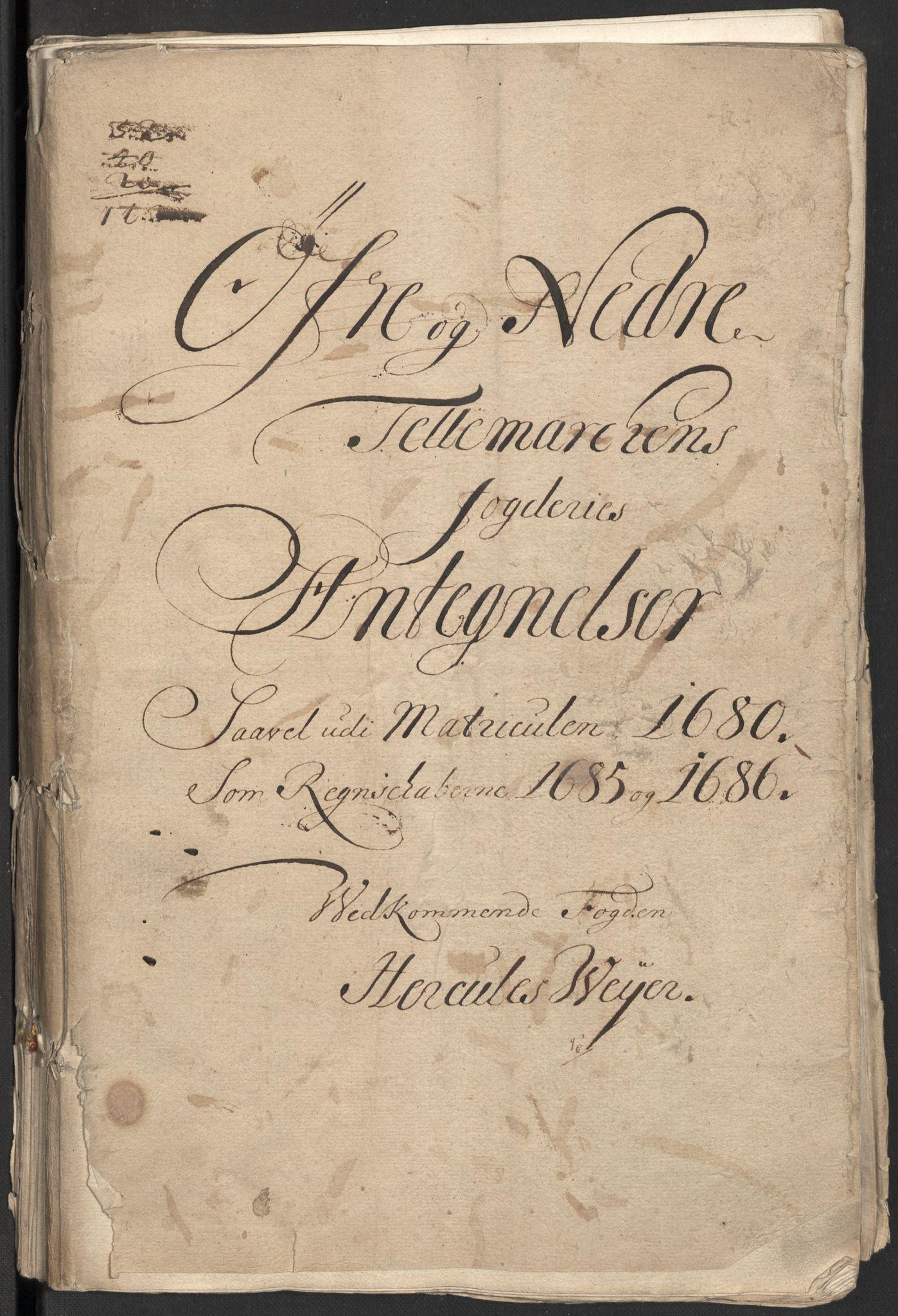 RA, Rentekammeret inntil 1814, Reviderte regnskaper, Fogderegnskap, R35/L2085: Fogderegnskap Øvre og Nedre Telemark, 1686, s. 3