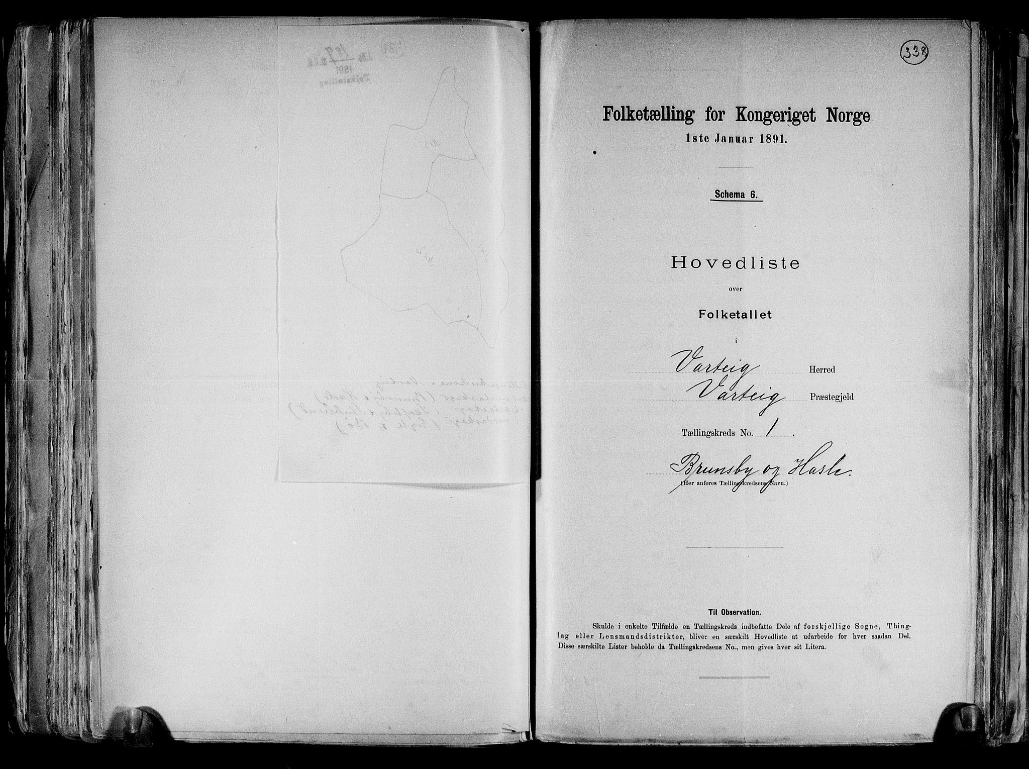 RA, Folketelling 1891 for 0114 Varteig herred, 1891, s. 5