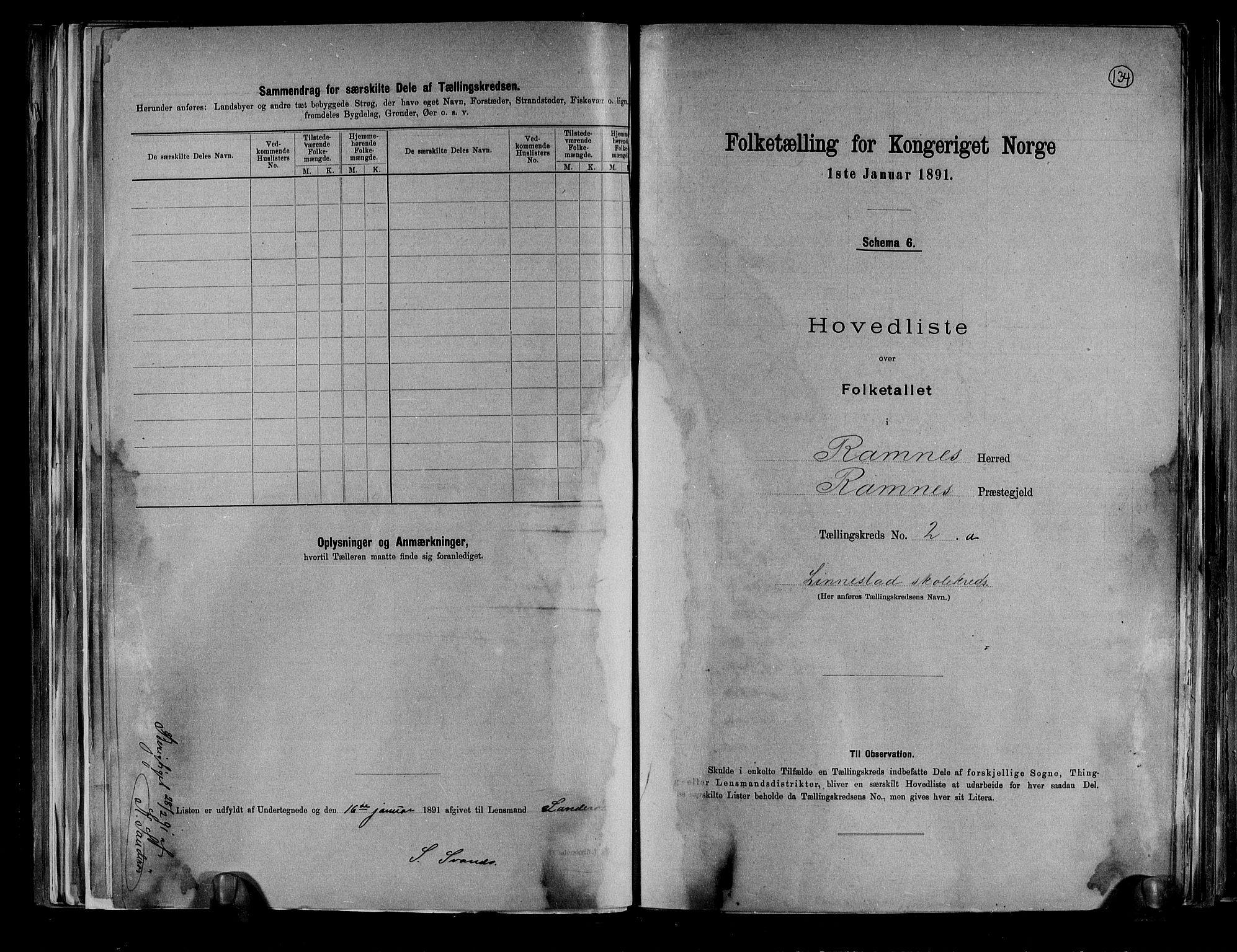 RA, Folketelling 1891 for 0718 Ramnes herred, 1891, s. 8
