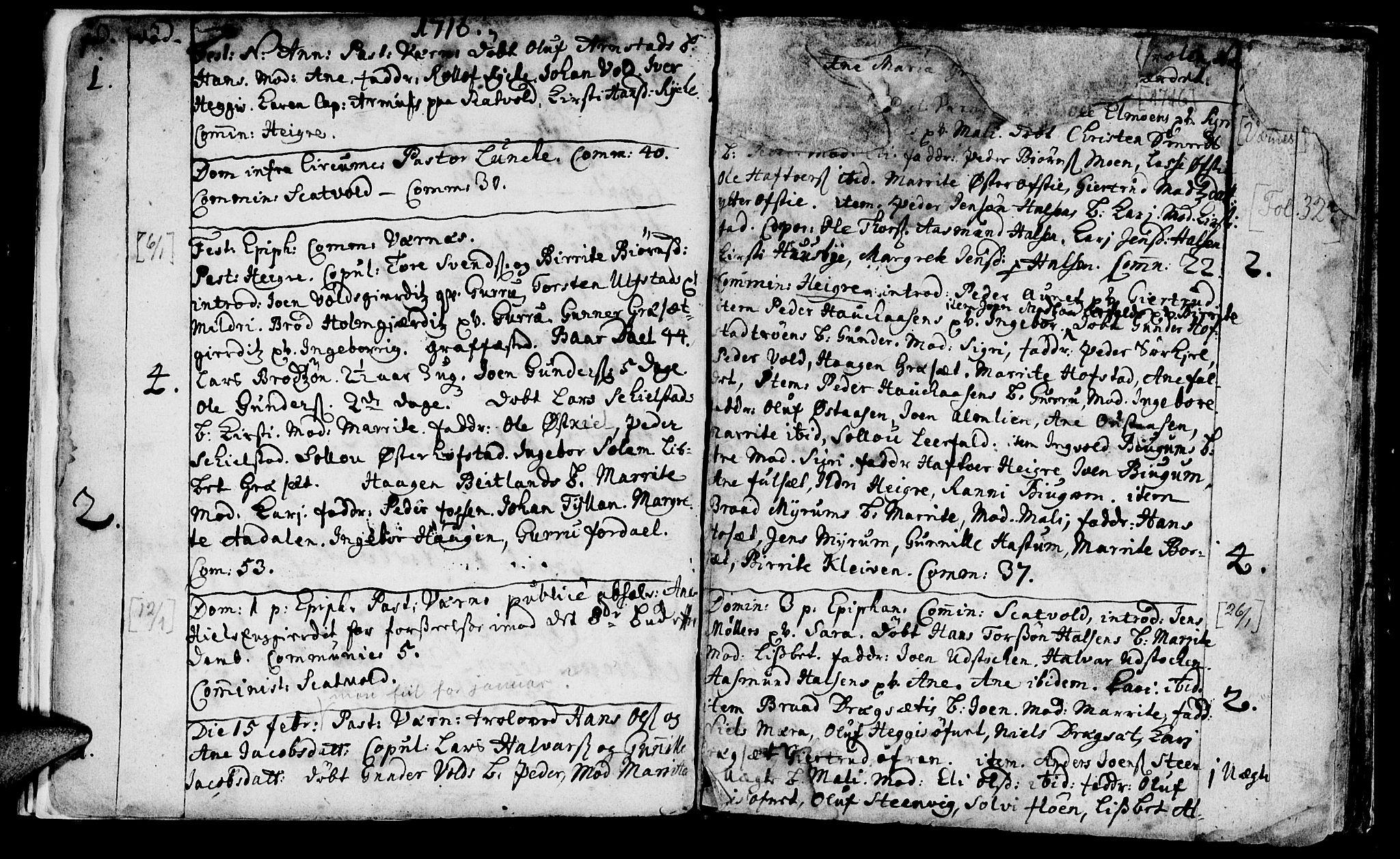 SAT, Ministerialprotokoller, klokkerbøker og fødselsregistre - Nord-Trøndelag, 709/L0054: Ministerialbok nr. 709A02, 1714-1738, s. 32