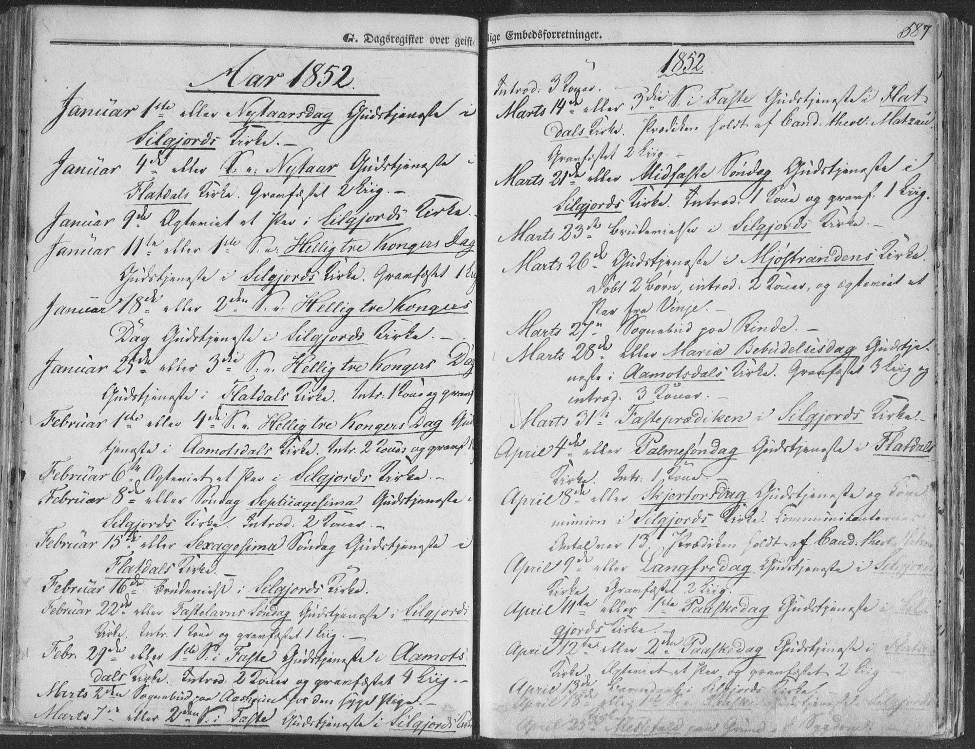SAKO, Seljord kirkebøker, F/Fa/L012b: Ministerialbok nr. I 12B, 1850-1865, s. 587