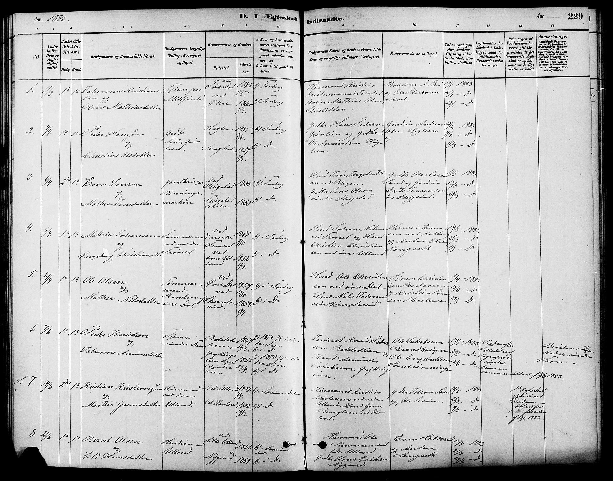 SAH, Fåberg prestekontor, Ministerialbok nr. 8, 1879-1898, s. 229