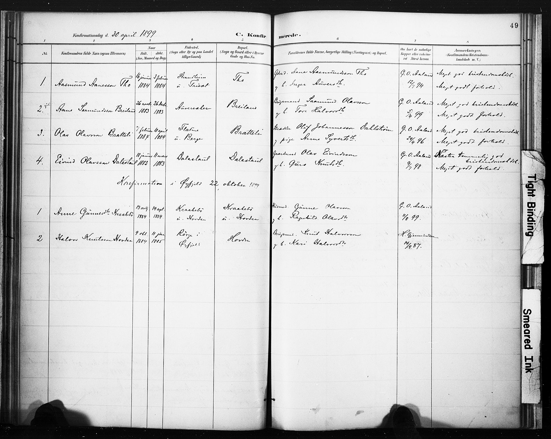 SAKO, Lårdal kirkebøker, F/Fc/L0002: Ministerialbok nr. III 2, 1887-1906, s. 49