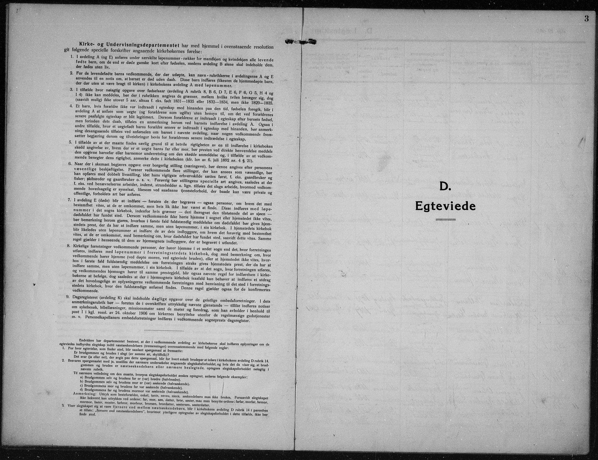 SAKO, Hurum kirkebøker, F/Fa/L0017: Ministerialbok nr. 17, 1910-1925, s. 3