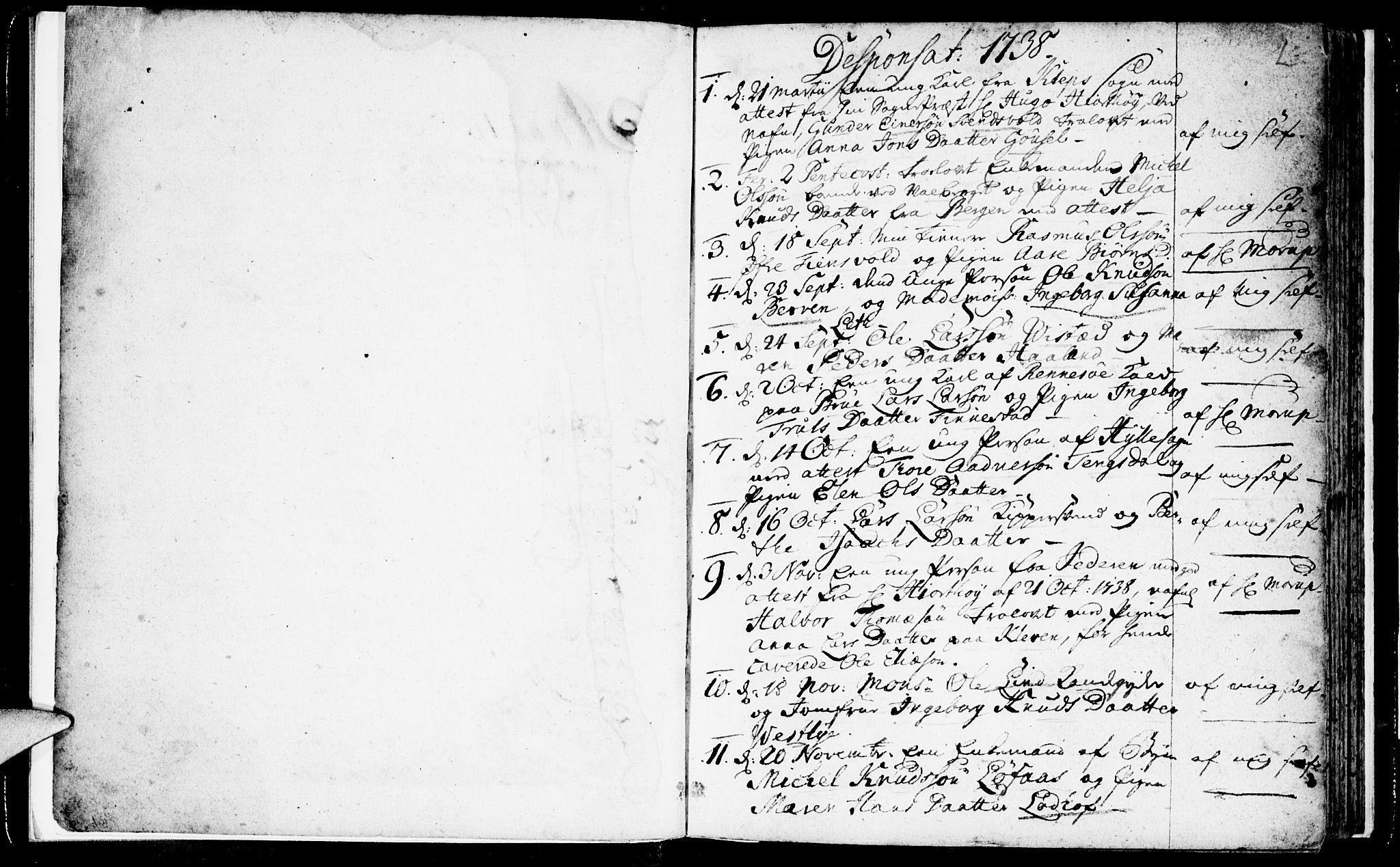 SAST, Domkirken sokneprestkontor, 30/30BA/L0003: Ministerialbok nr. A 3 /1, 1738-1760, s. 2