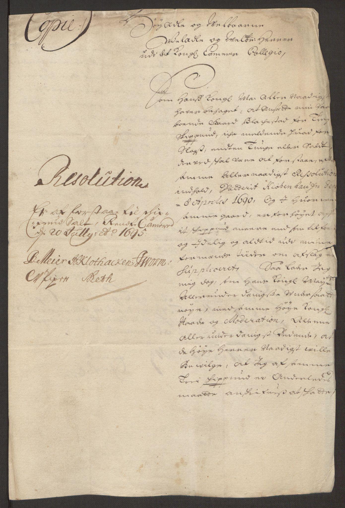 RA, Rentekammeret inntil 1814, Reviderte regnskaper, Fogderegnskap, R10/L0439: Fogderegnskap Aker og Follo, 1695, s. 27
