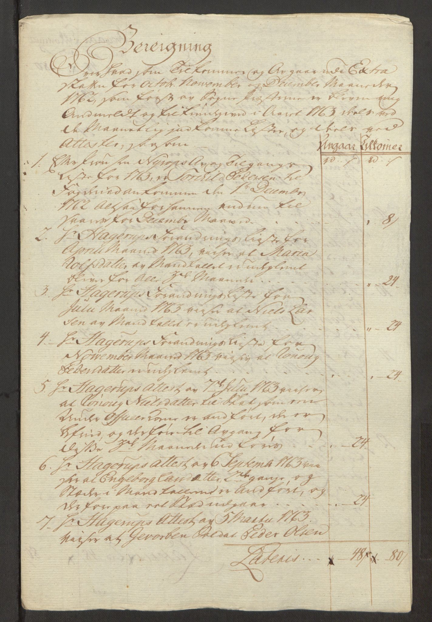 RA, Rentekammeret inntil 1814, Reviderte regnskaper, Fogderegnskap, R23/L1565: Ekstraskatten Ringerike og Hallingdal, 1762-1763, s. 549