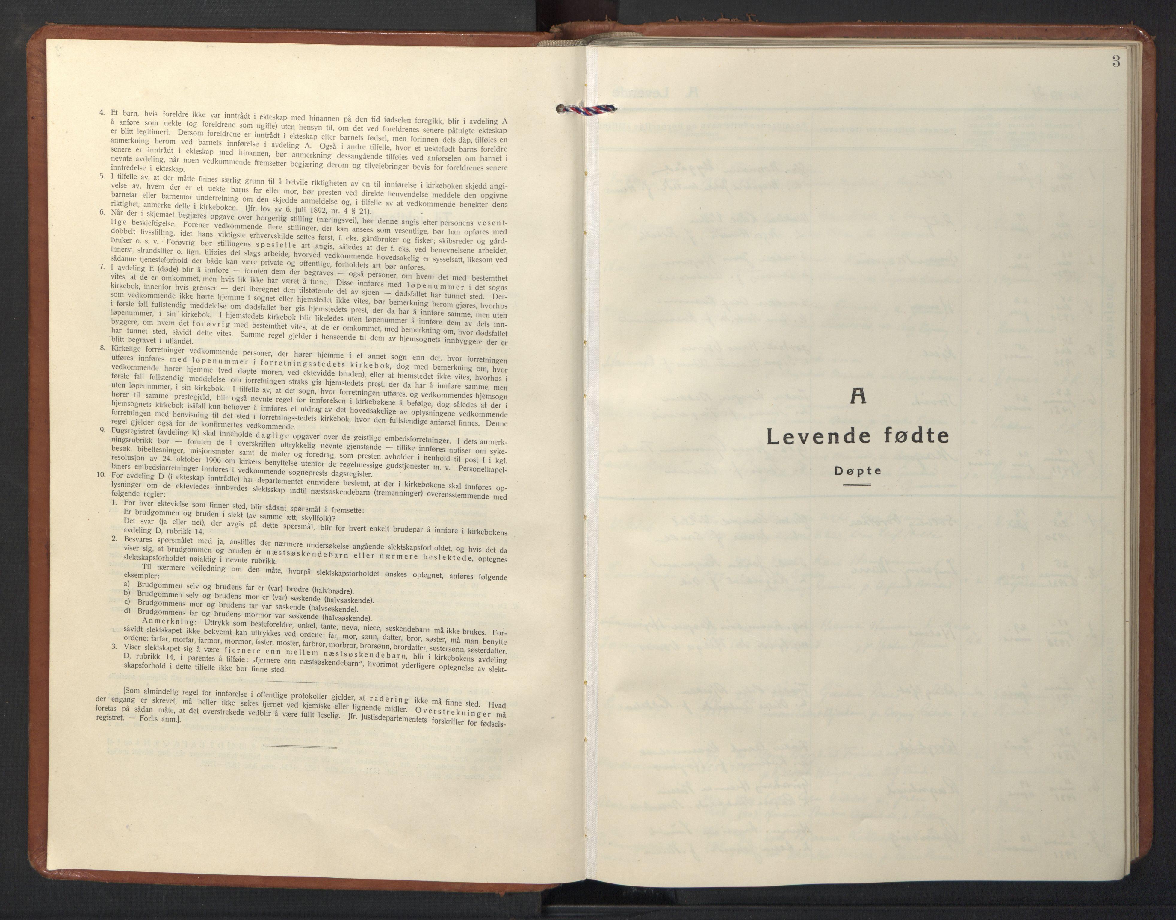 SAT, Ministerialprotokoller, klokkerbøker og fødselsregistre - Nord-Trøndelag, 713/L0125: Klokkerbok nr. 713C02, 1931-1941, s. 3
