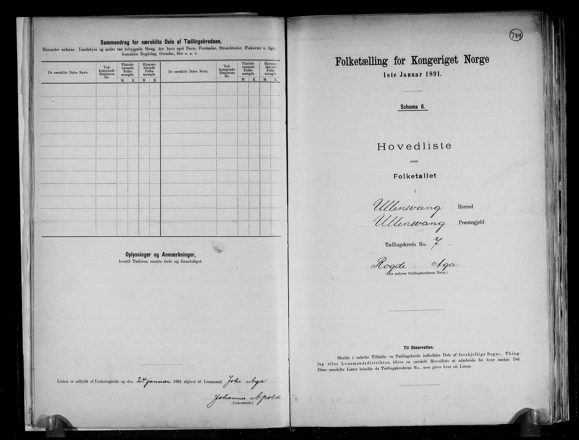 RA, Folketelling 1891 for 1230 Ullensvang herred, 1891, s. 20