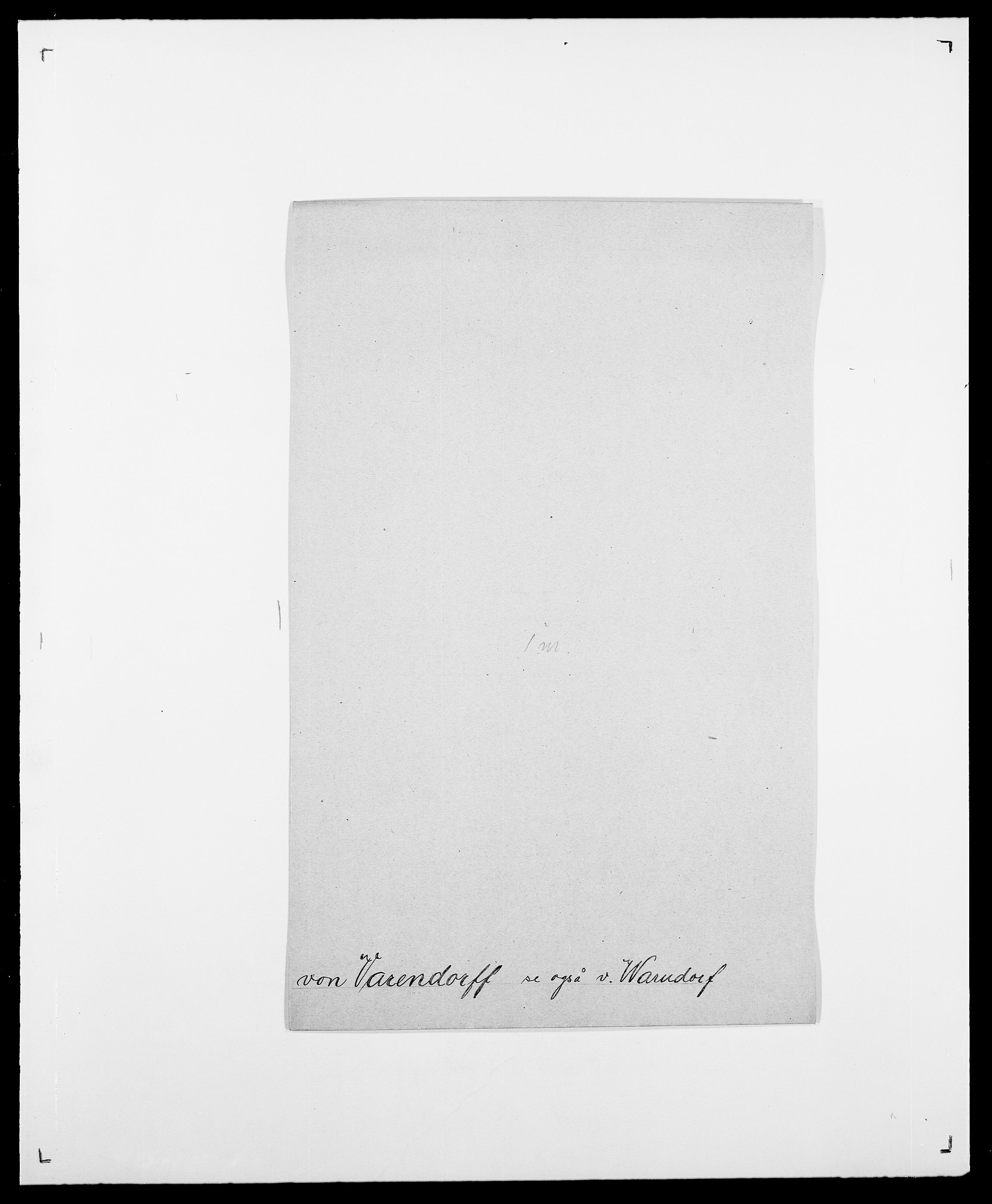 SAO, Delgobe, Charles Antoine - samling, D/Da/L0040: Usgaard - Velund, s. 317