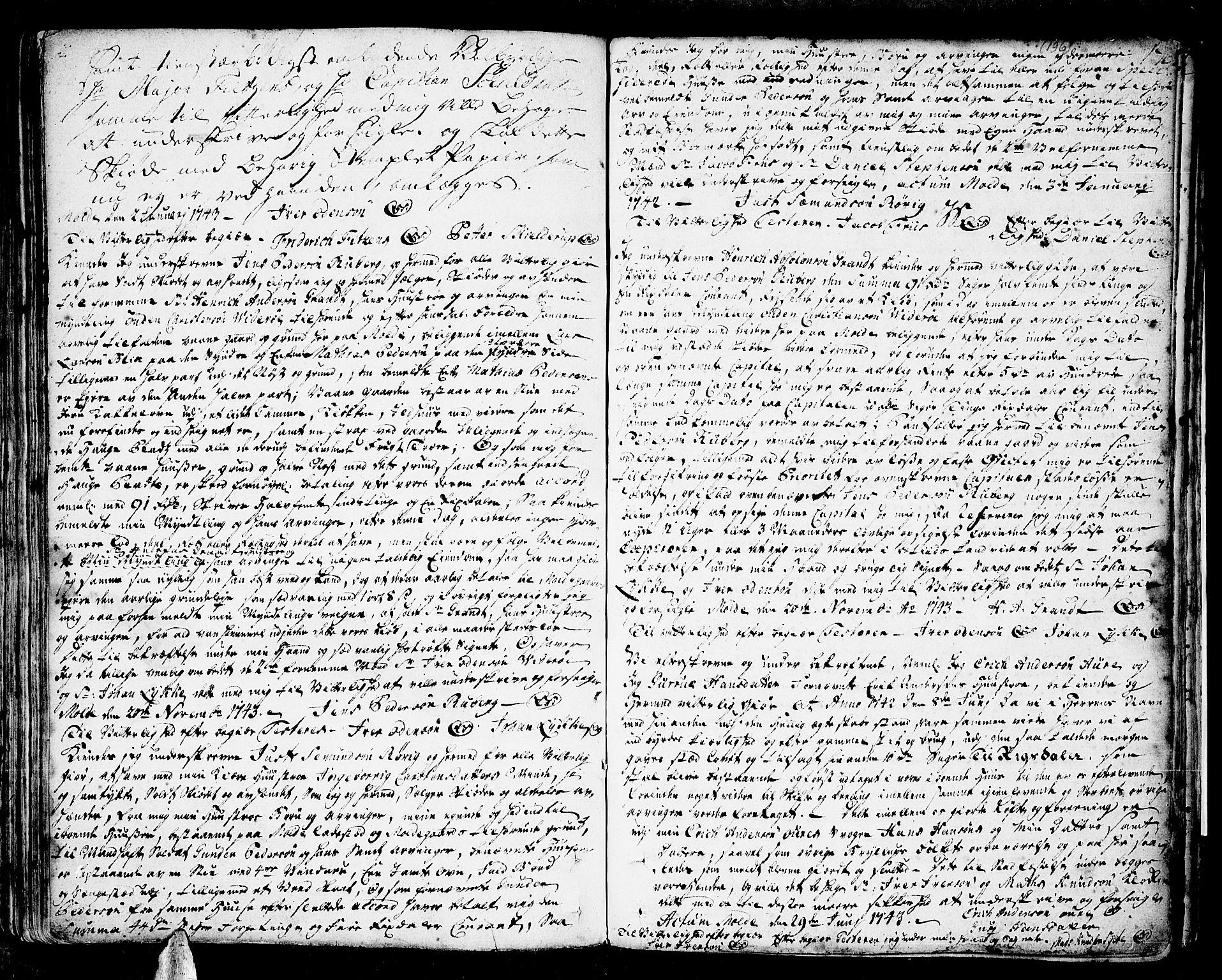 SAT, Romsdal sorenskriveri, 2/2C/L0002: Pantebok nr. 2, 1731-1745, s. 196
