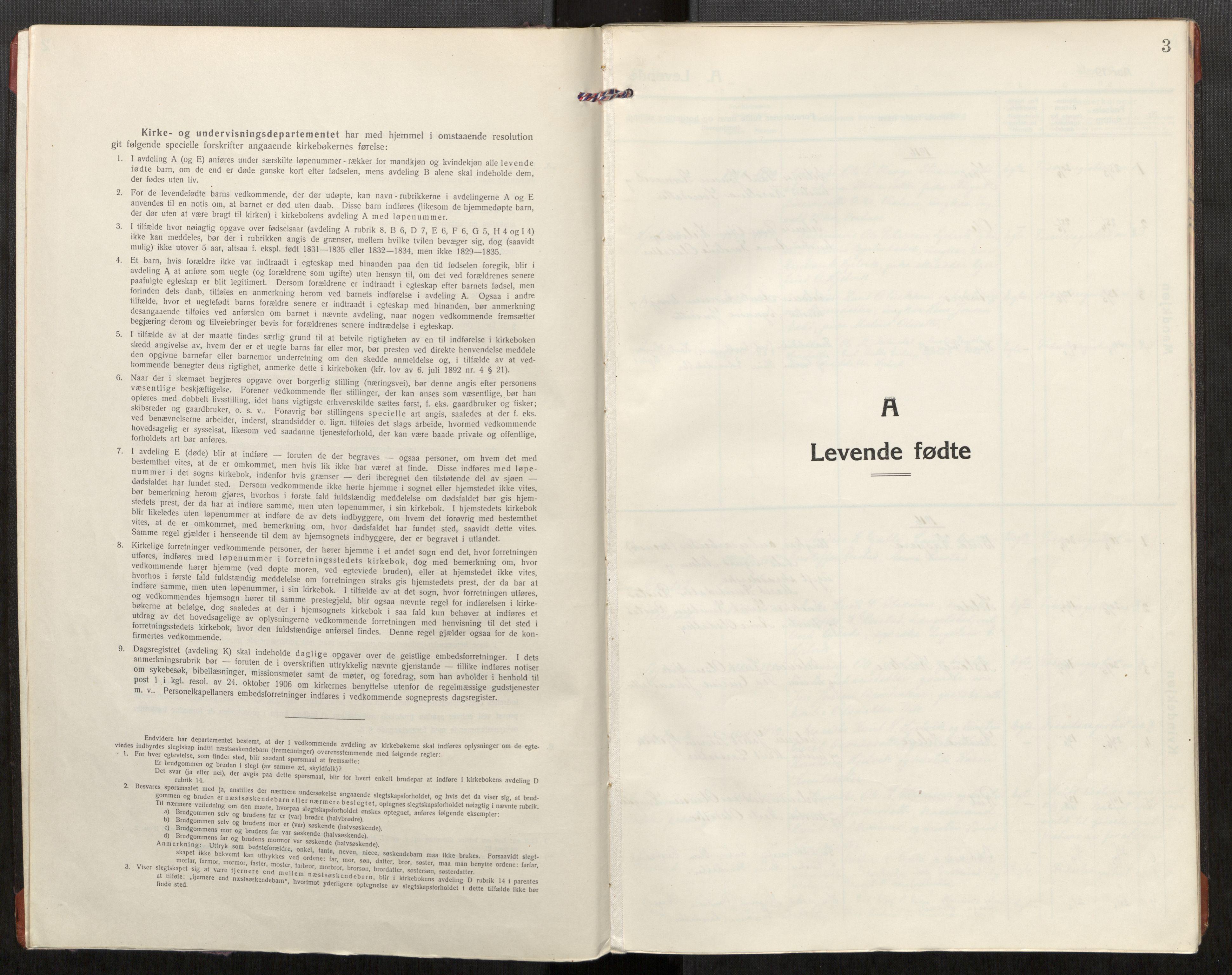 SAT, Grytten sokneprestkontor, Ministerialbok nr. 550A02, 1916-1931, s. 3