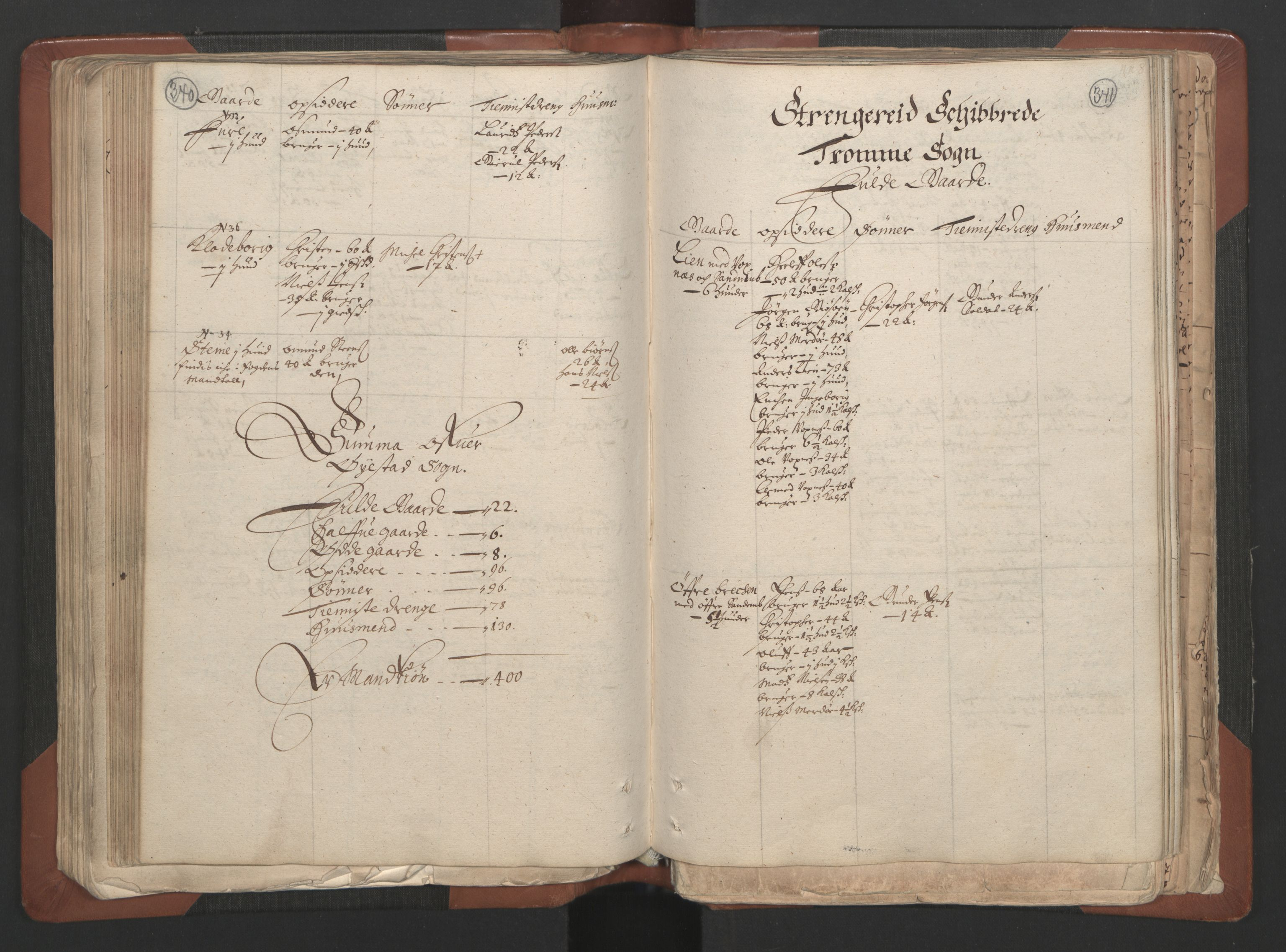 RA, Fogdenes og sorenskrivernes manntall 1664-1666, nr. 7: Nedenes fogderi, 1664-1666, s. 340-341