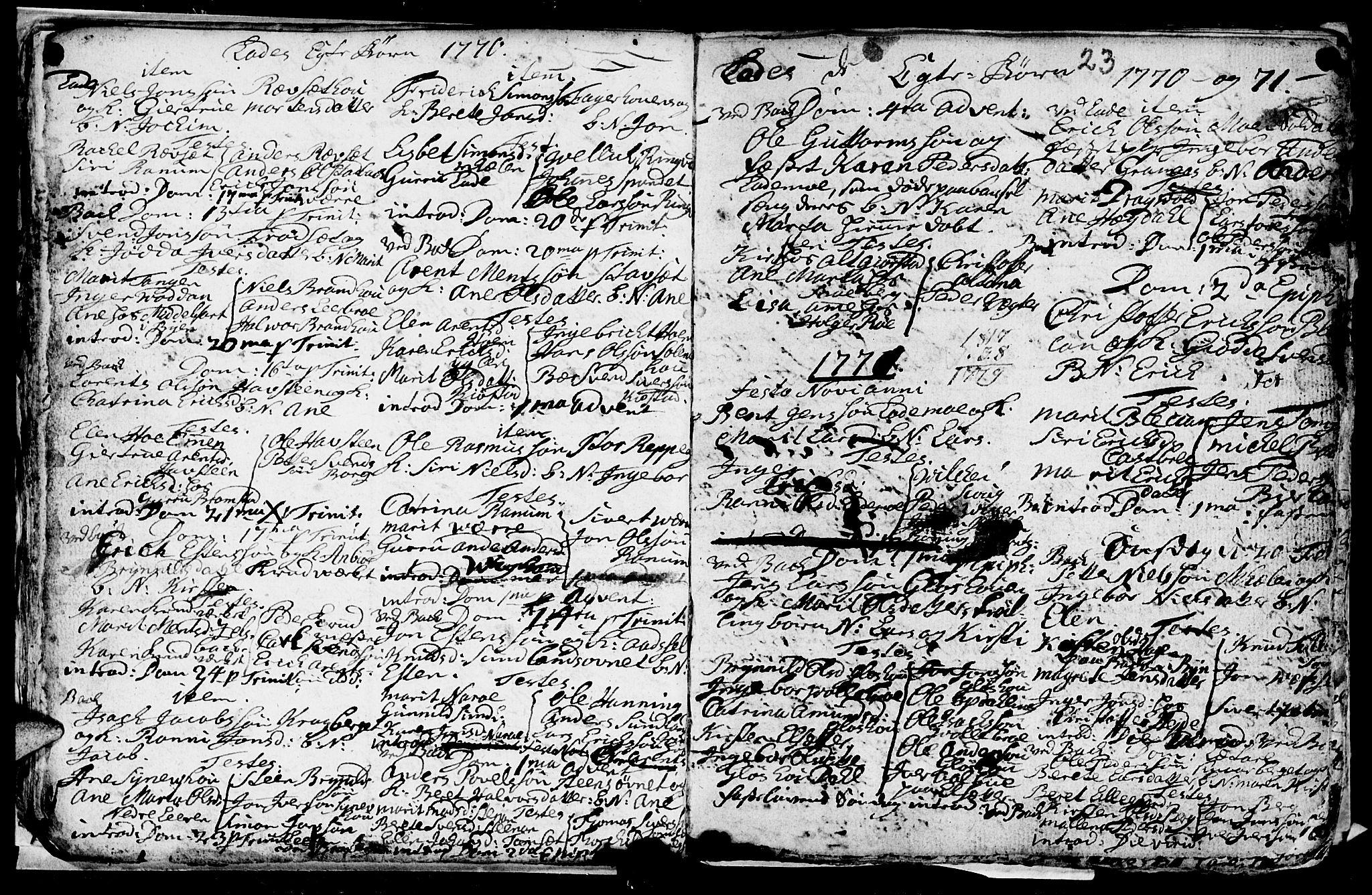 SAT, Ministerialprotokoller, klokkerbøker og fødselsregistre - Sør-Trøndelag, 606/L0305: Klokkerbok nr. 606C01, 1757-1819, s. 23