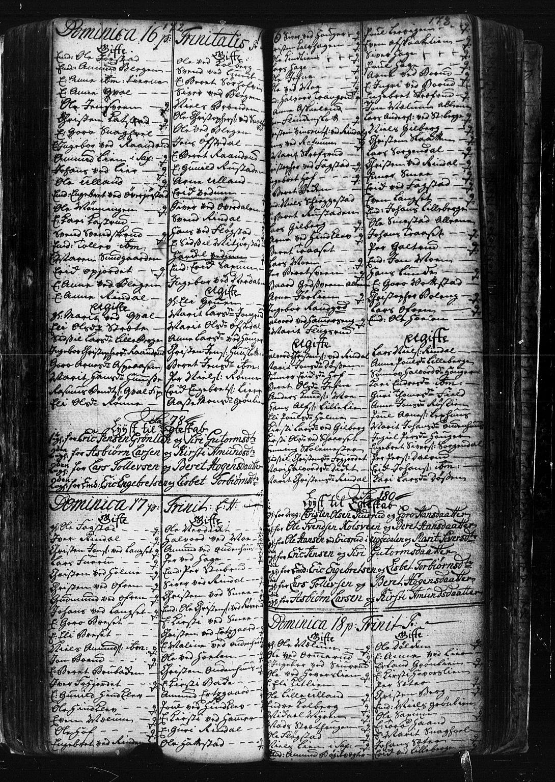 SAH, Fåberg prestekontor, Klokkerbok nr. 1, 1727-1767, s. 172-173