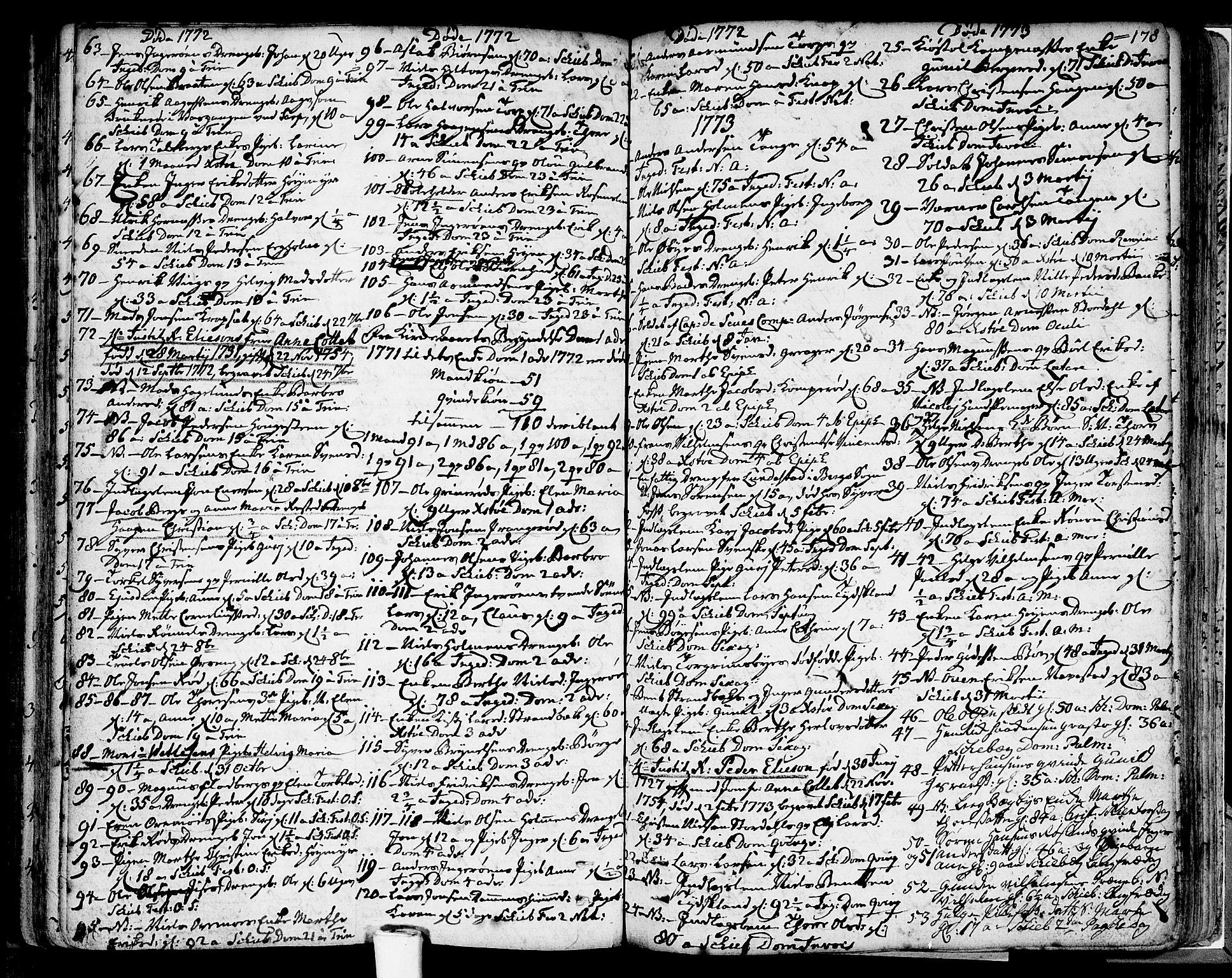 SAO, Skjeberg prestekontor Kirkebøker, F/Fa/L0002: Ministerialbok nr. I 2, 1726-1791, s. 178