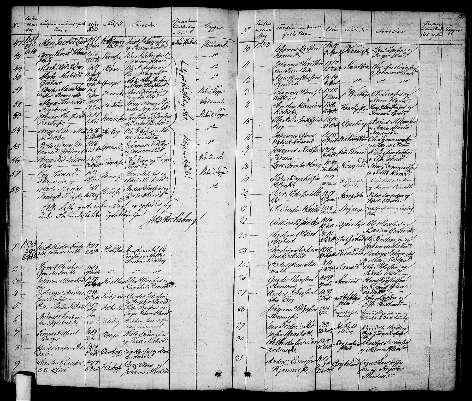 SAO, Rakkestad prestekontor Kirkebøker, F/Fa/L0007: Ministerialbok nr. I 7, 1825-1841, s. 152