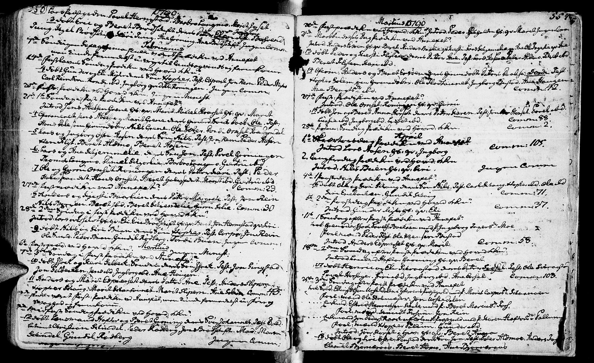 SAT, Ministerialprotokoller, klokkerbøker og fødselsregistre - Sør-Trøndelag, 646/L0605: Ministerialbok nr. 646A03, 1751-1790, s. 556-557