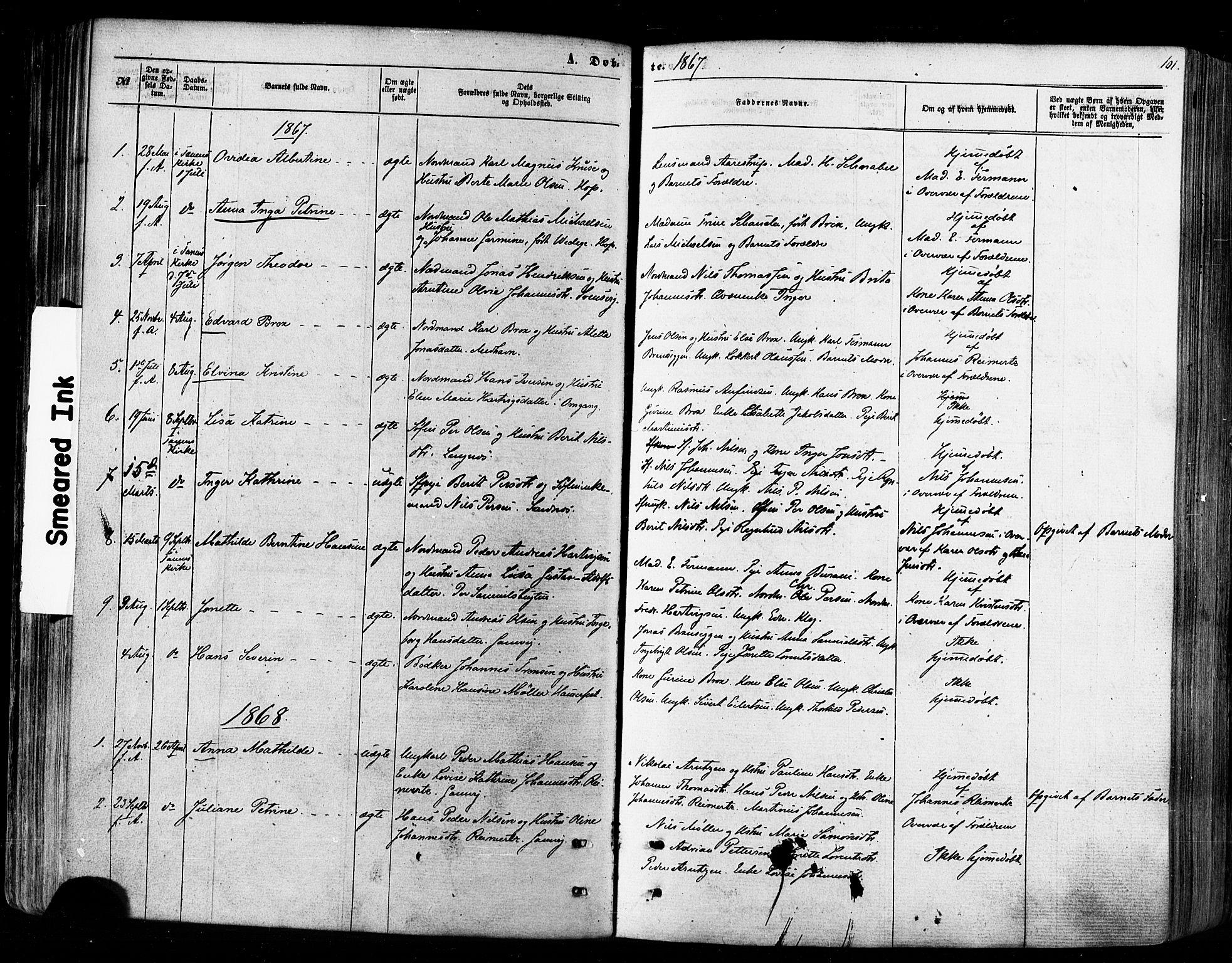 SATØ, Tana sokneprestkontor, H/Ha/L0002kirke: Ministerialbok nr. 2 /2, 1862-1877, s. 101