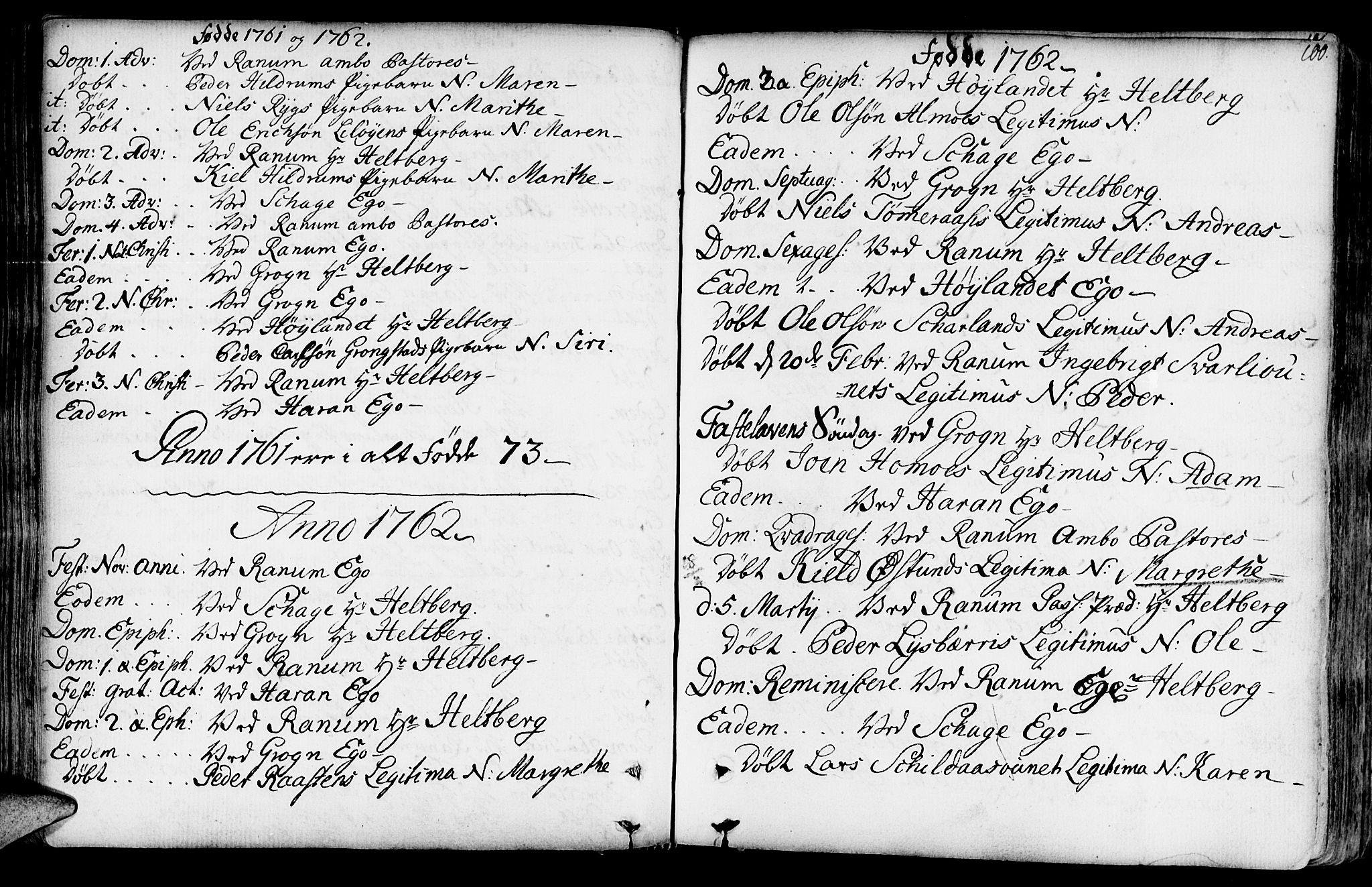 SAT, Ministerialprotokoller, klokkerbøker og fødselsregistre - Nord-Trøndelag, 764/L0542: Ministerialbok nr. 764A02, 1748-1779, s. 100