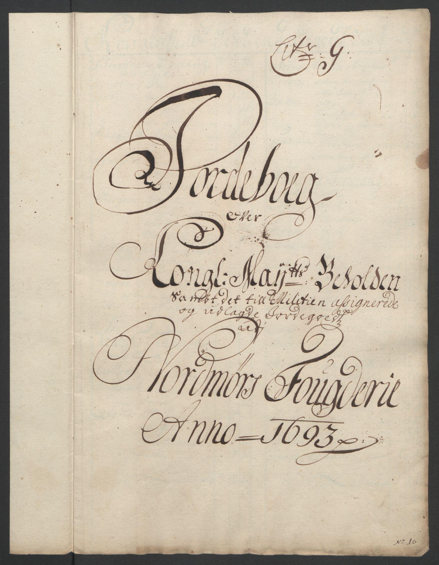 RA, Rentekammeret inntil 1814, Reviderte regnskaper, Fogderegnskap, R56/L3735: Fogderegnskap Nordmøre, 1692-1693, s. 362