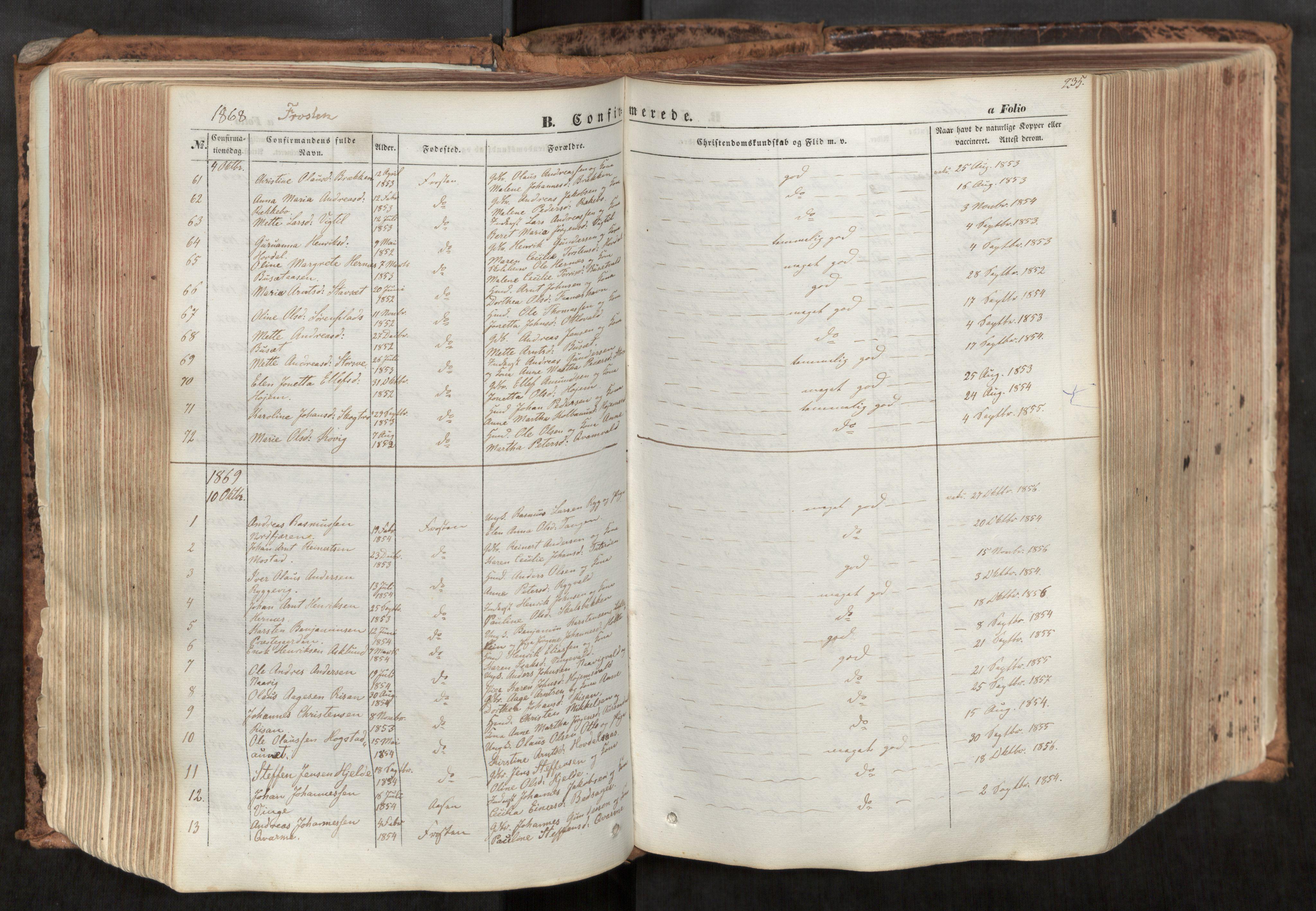 SAT, Ministerialprotokoller, klokkerbøker og fødselsregistre - Nord-Trøndelag, 713/L0116: Ministerialbok nr. 713A07, 1850-1877, s. 235