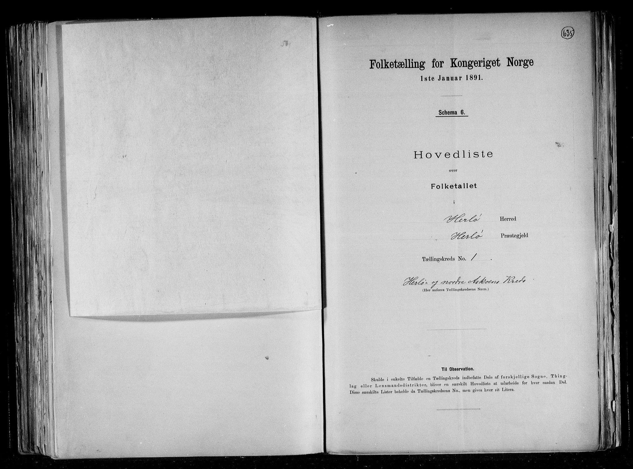 RA, Folketelling 1891 for 1258 Herdla herred, 1891, s. 5
