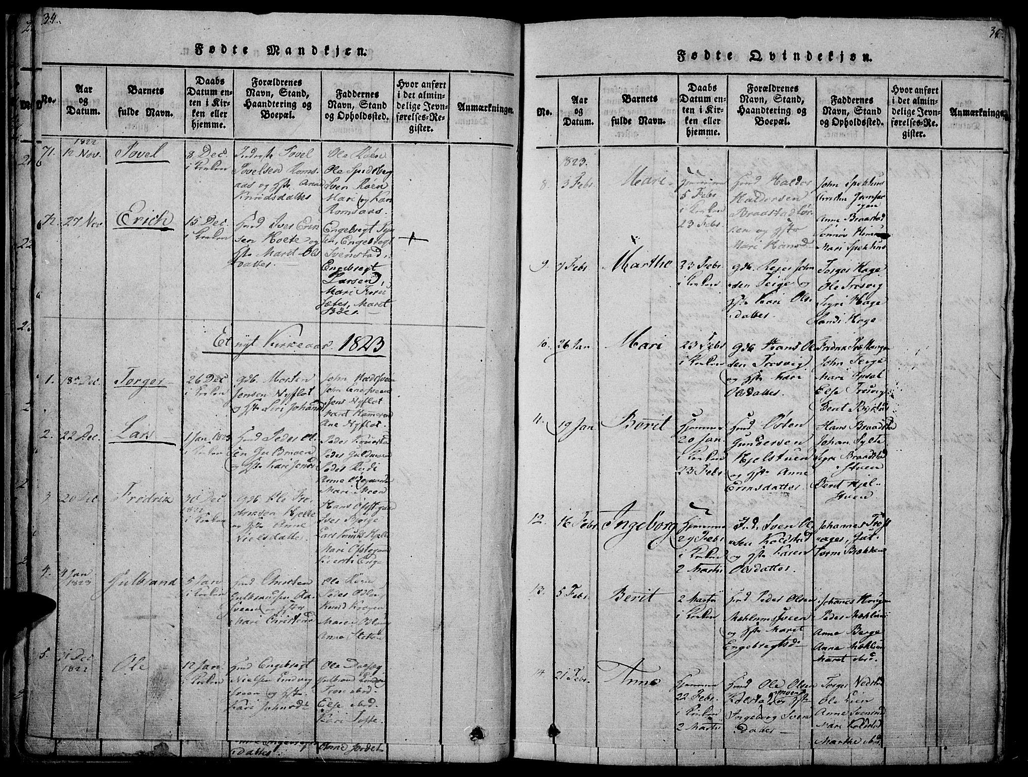 SAH, Ringebu prestekontor, Ministerialbok nr. 4, 1821-1839, s. 34-35