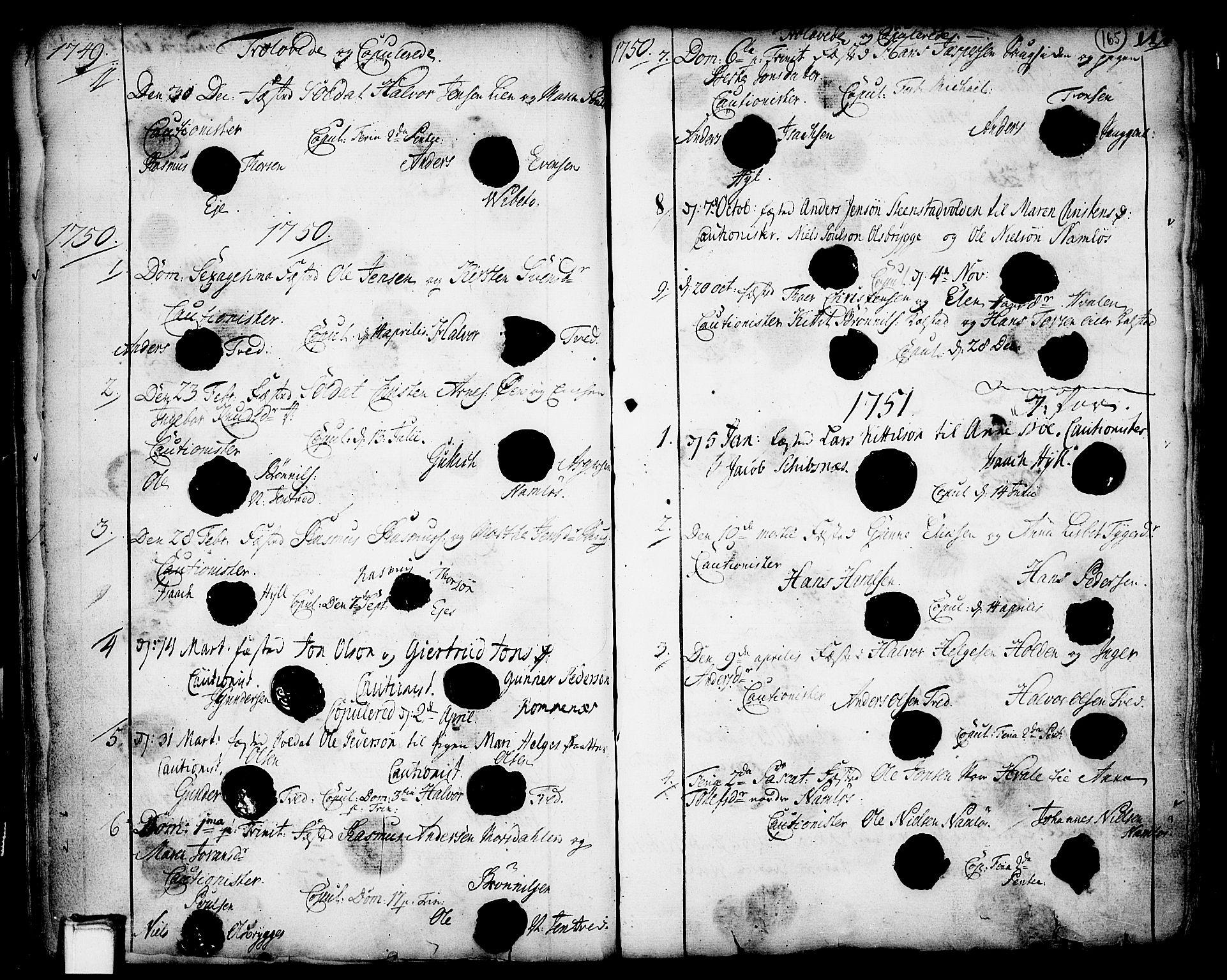 SAKO, Holla kirkebøker, F/Fa/L0001: Ministerialbok nr. 1, 1717-1779, s. 165