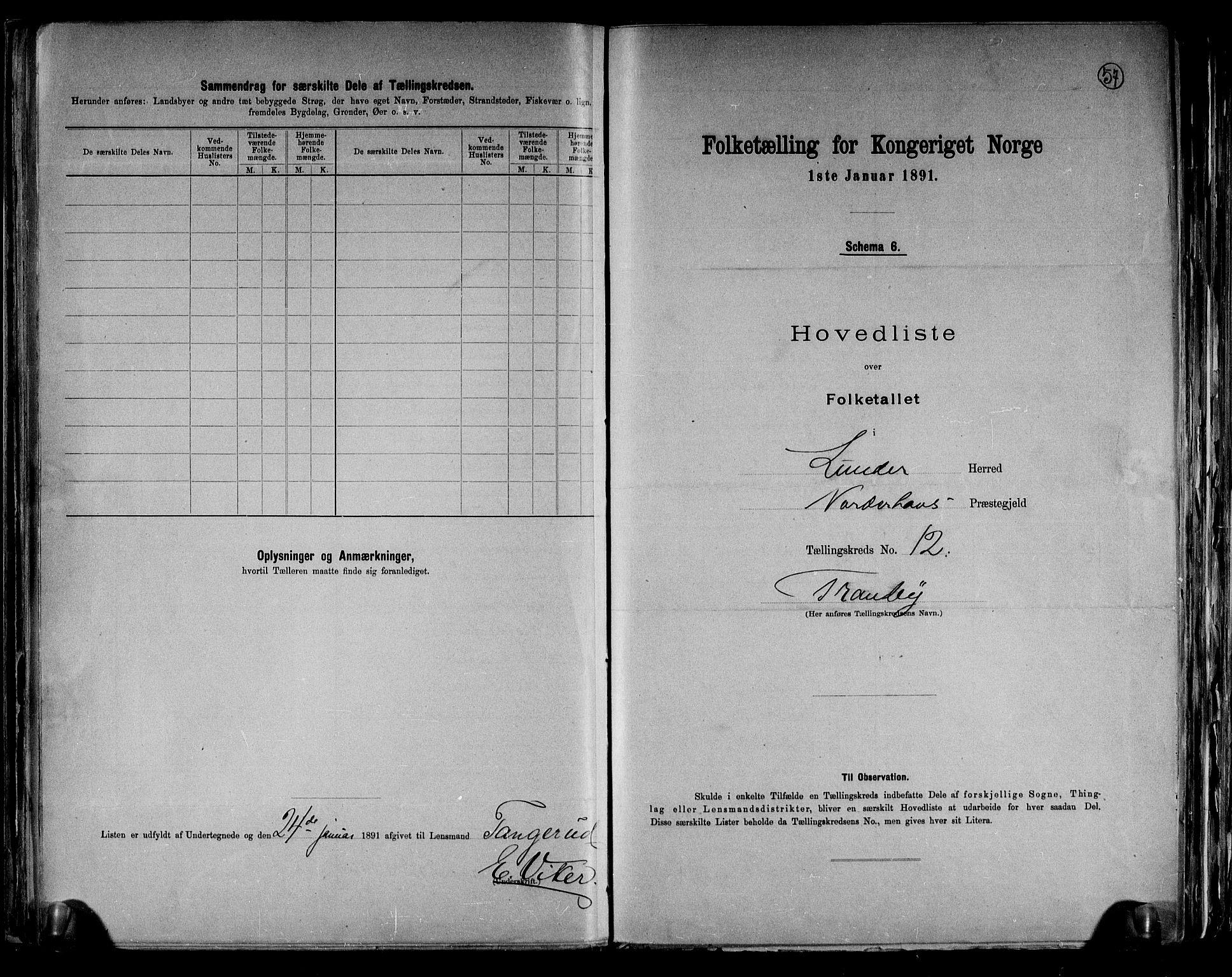 RA, Folketelling 1891 for 0613 Norderhov herred, 1891, s. 36