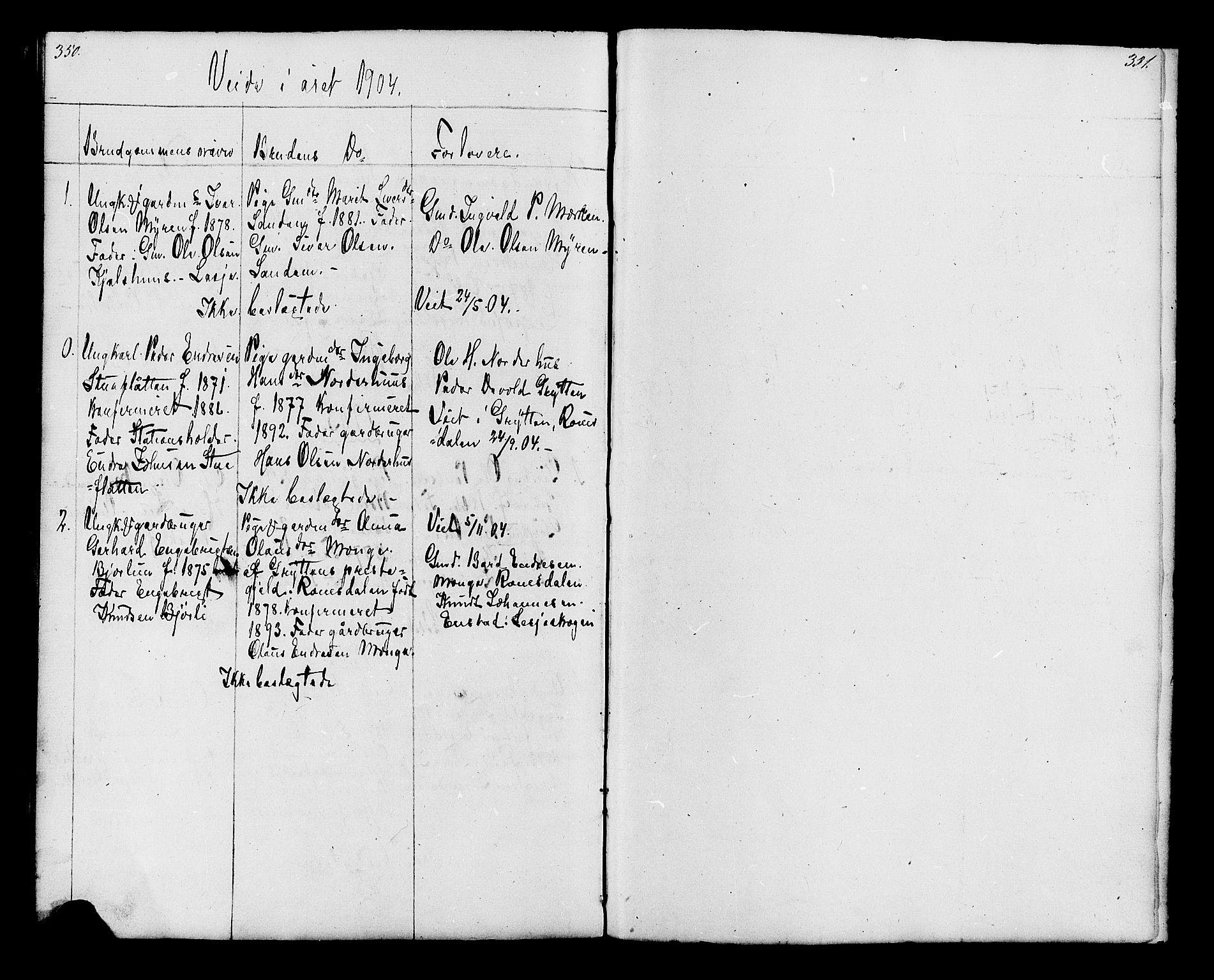 SAH, Lesja prestekontor, Klokkerbok nr. 6, 1871-1904, s. 350-351