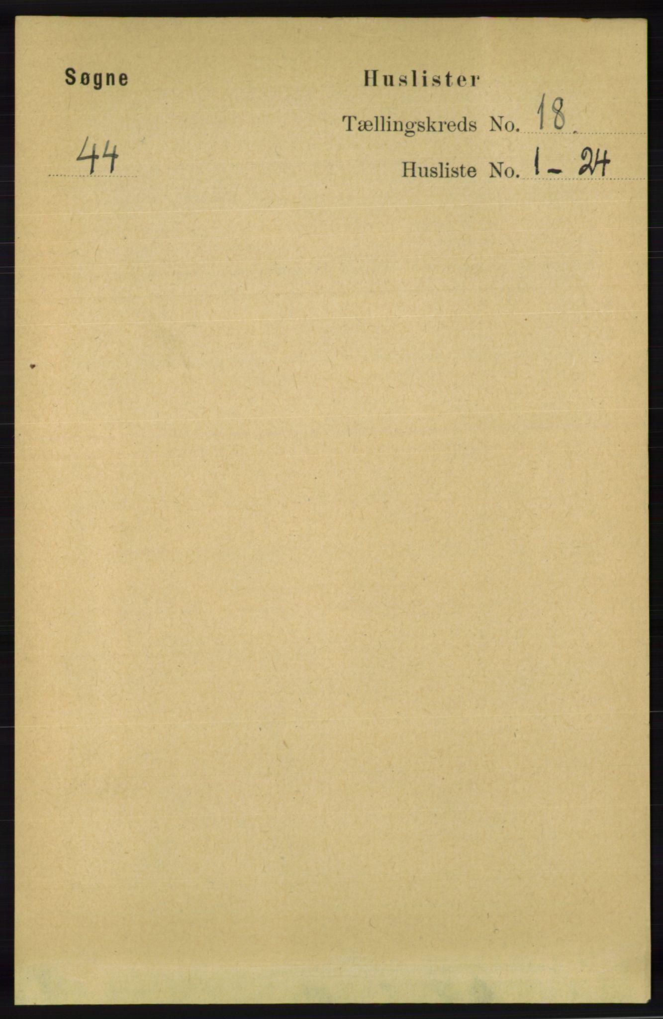 RA, Folketelling 1891 for 1018 Søgne herred, 1891, s. 4702