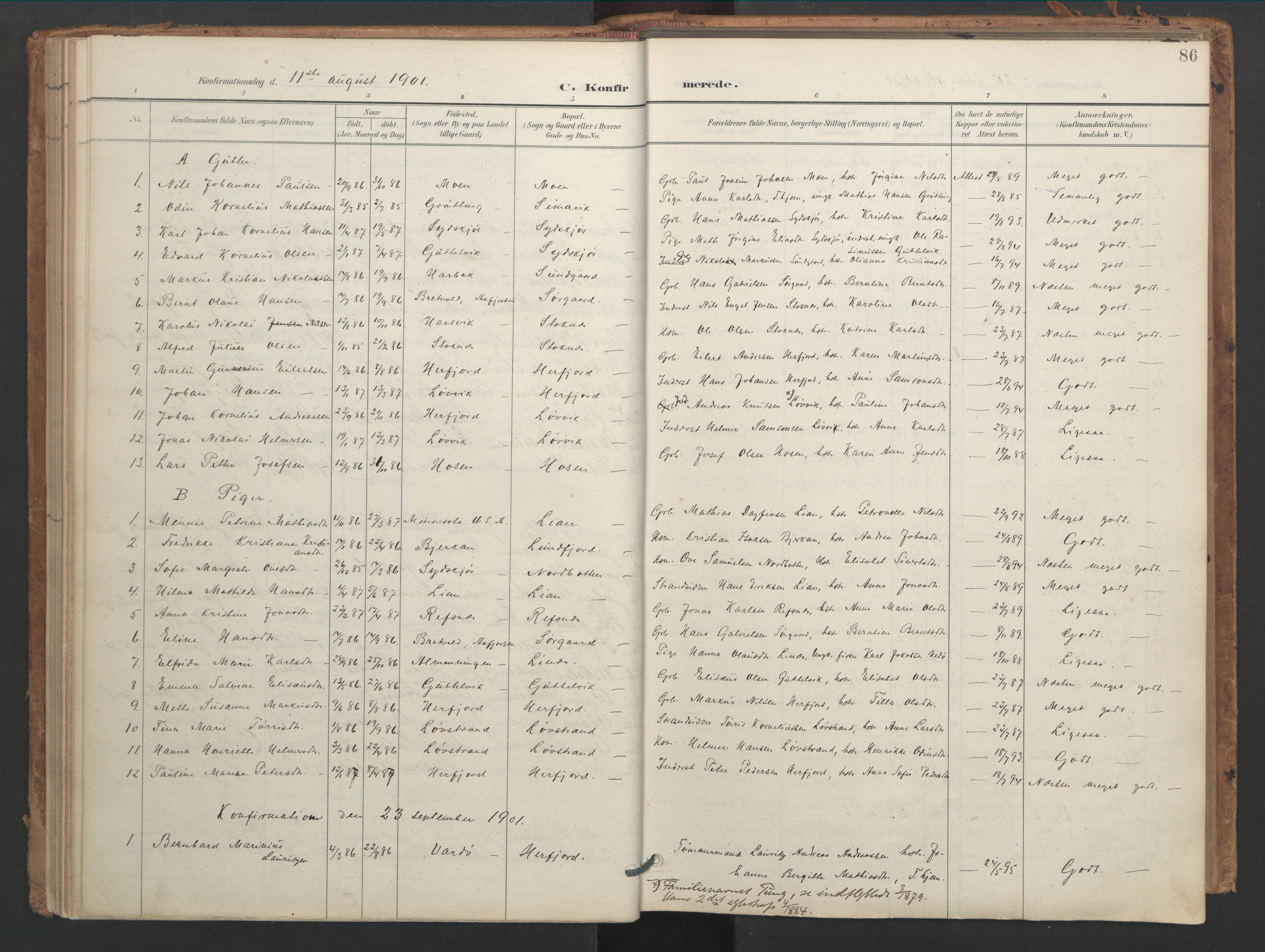 SAT, Ministerialprotokoller, klokkerbøker og fødselsregistre - Sør-Trøndelag, 656/L0693: Ministerialbok nr. 656A02, 1894-1913, s. 86