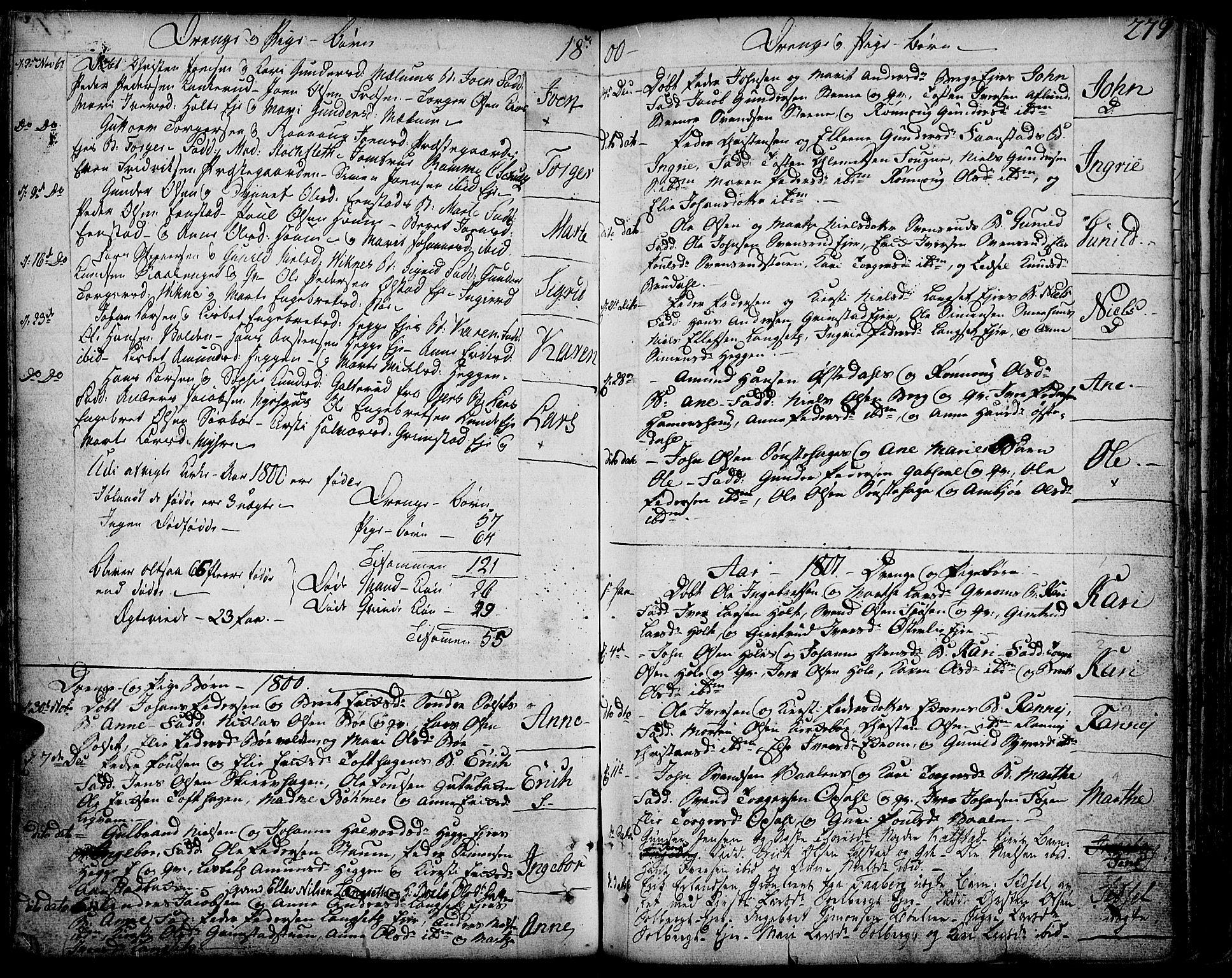 SAH, Gausdal prestekontor, Ministerialbok nr. 3, 1758-1809, s. 279