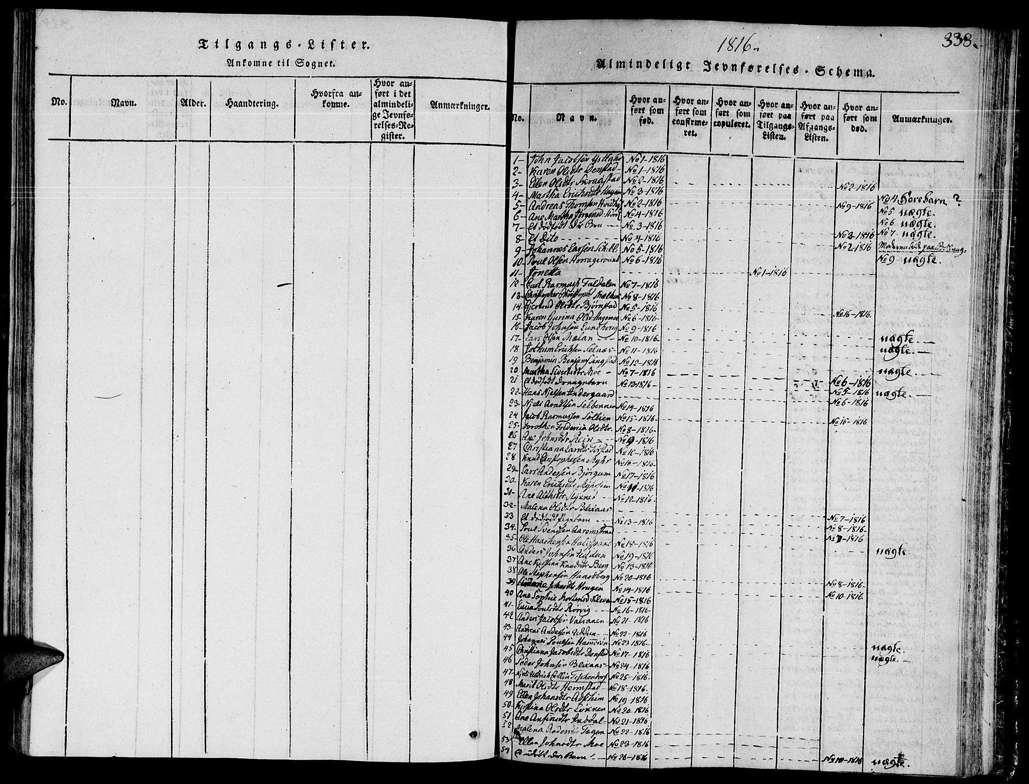 SAT, Ministerialprotokoller, klokkerbøker og fødselsregistre - Sør-Trøndelag, 646/L0608: Ministerialbok nr. 646A06, 1816-1825, s. 338