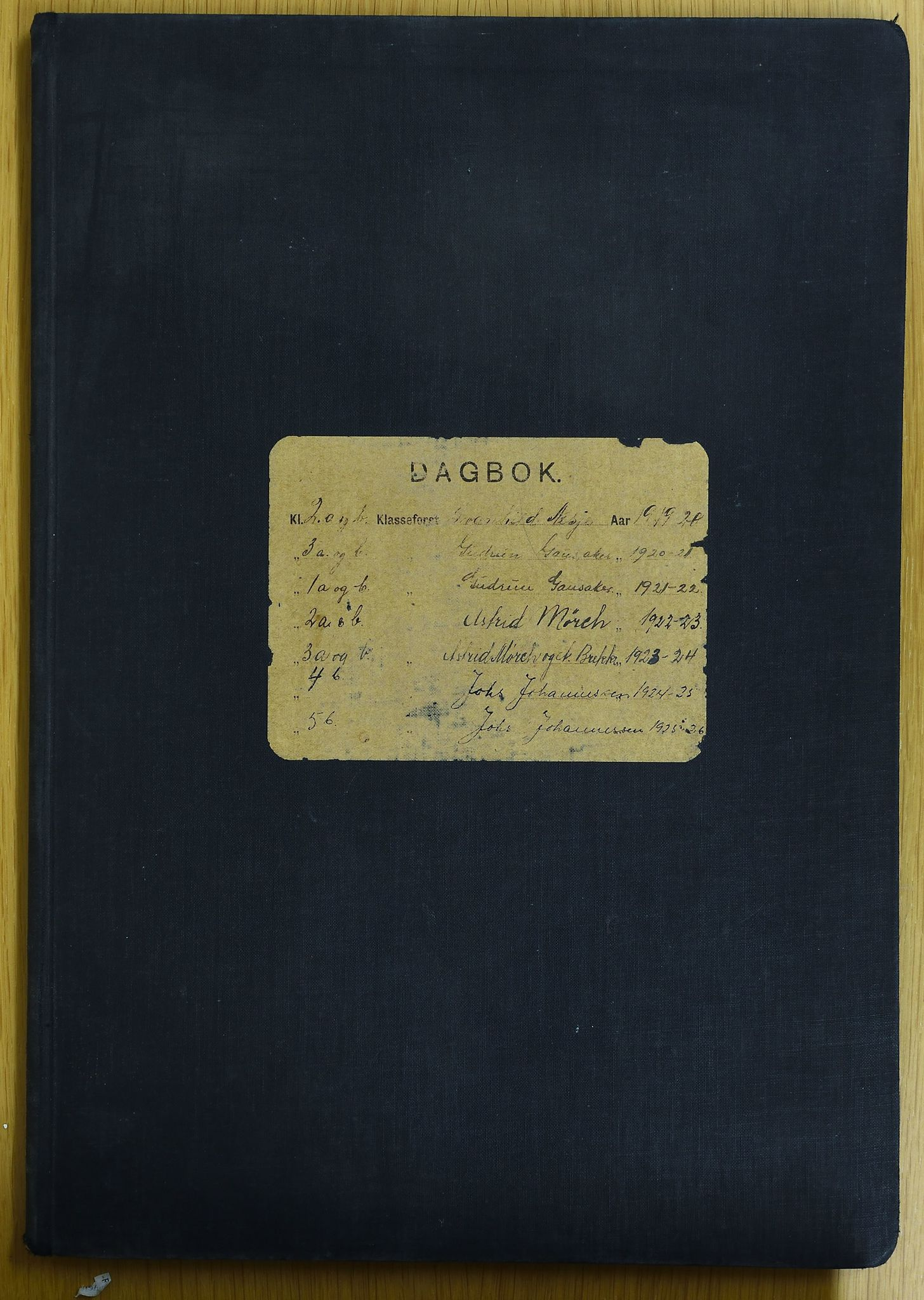 KVT, Vestre Toten kommunearkiv: Raufoss Skole i Vestre Toten kommune. Elevprotokoll 1919-1926 for 1.-5. klasse, 1919-1926