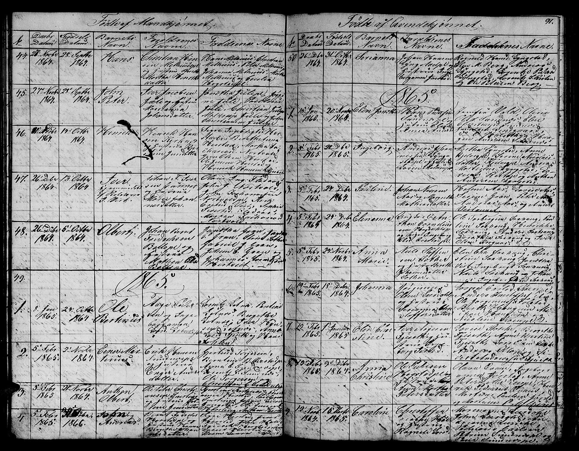 SAT, Ministerialprotokoller, klokkerbøker og fødselsregistre - Nord-Trøndelag, 730/L0299: Klokkerbok nr. 730C02, 1849-1871, s. 91