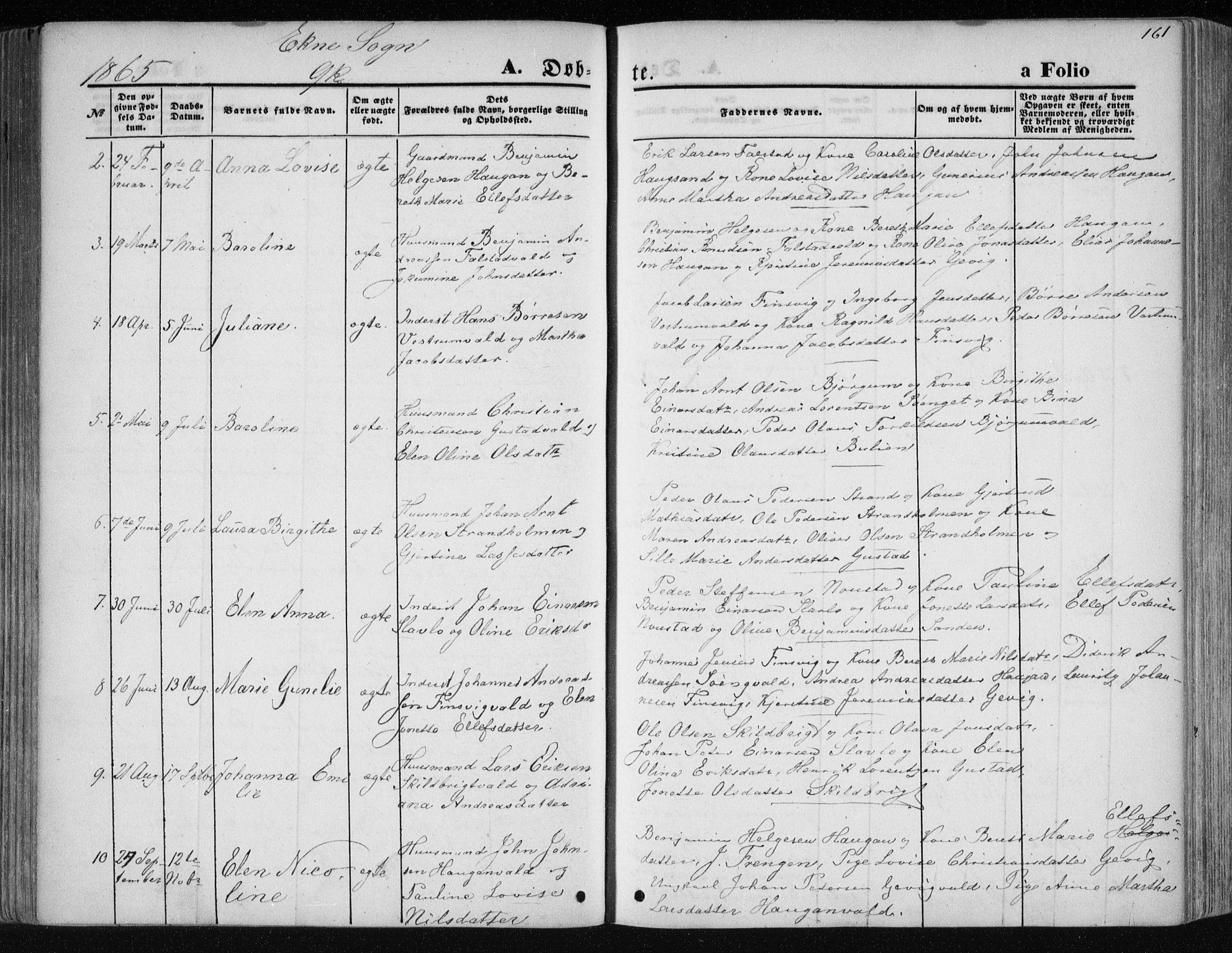 SAT, Ministerialprotokoller, klokkerbøker og fødselsregistre - Nord-Trøndelag, 717/L0158: Ministerialbok nr. 717A08 /2, 1863-1877, s. 161