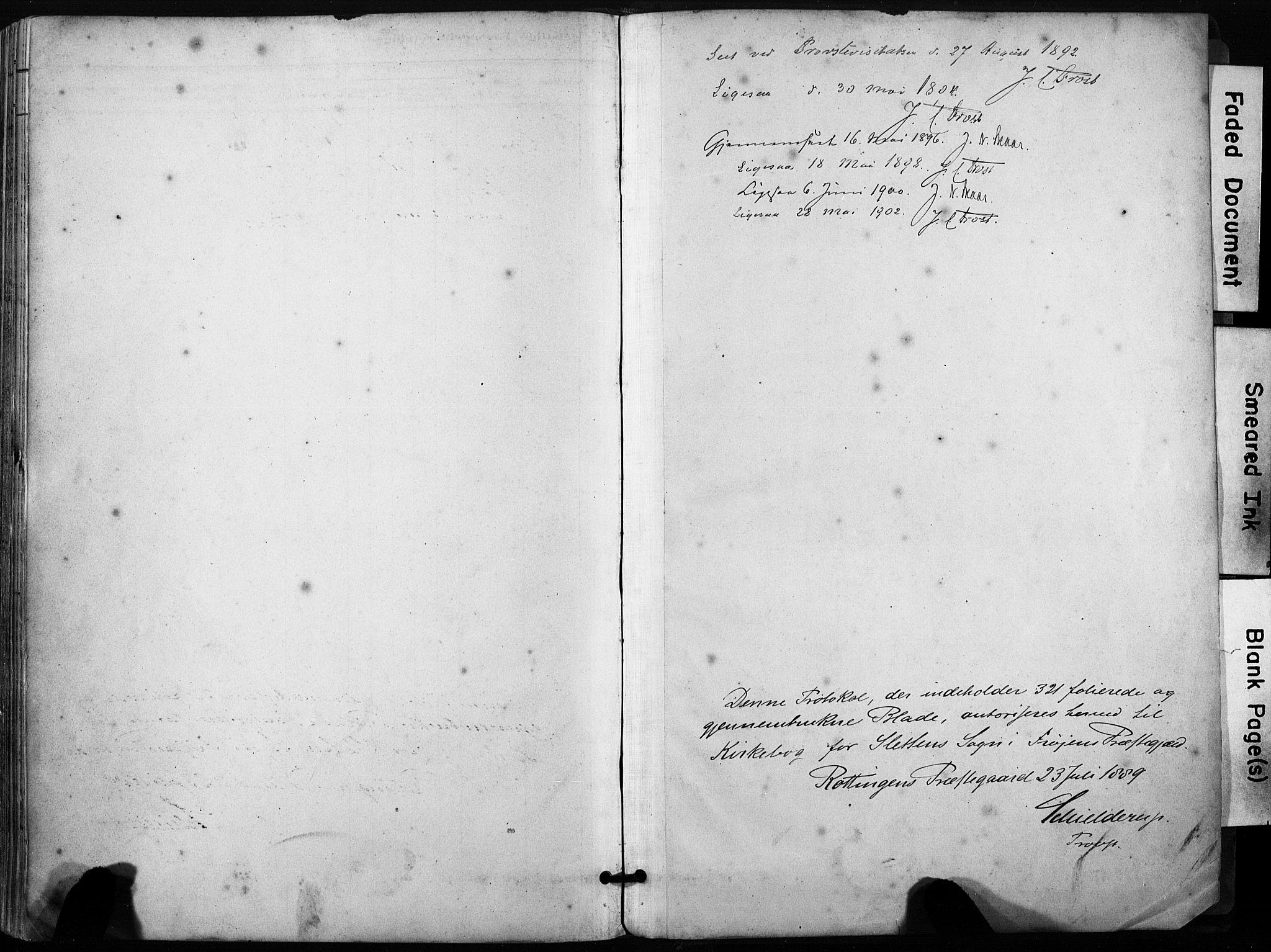 SAT, Ministerialprotokoller, klokkerbøker og fødselsregistre - Sør-Trøndelag, 640/L0579: Ministerialbok nr. 640A04, 1889-1902