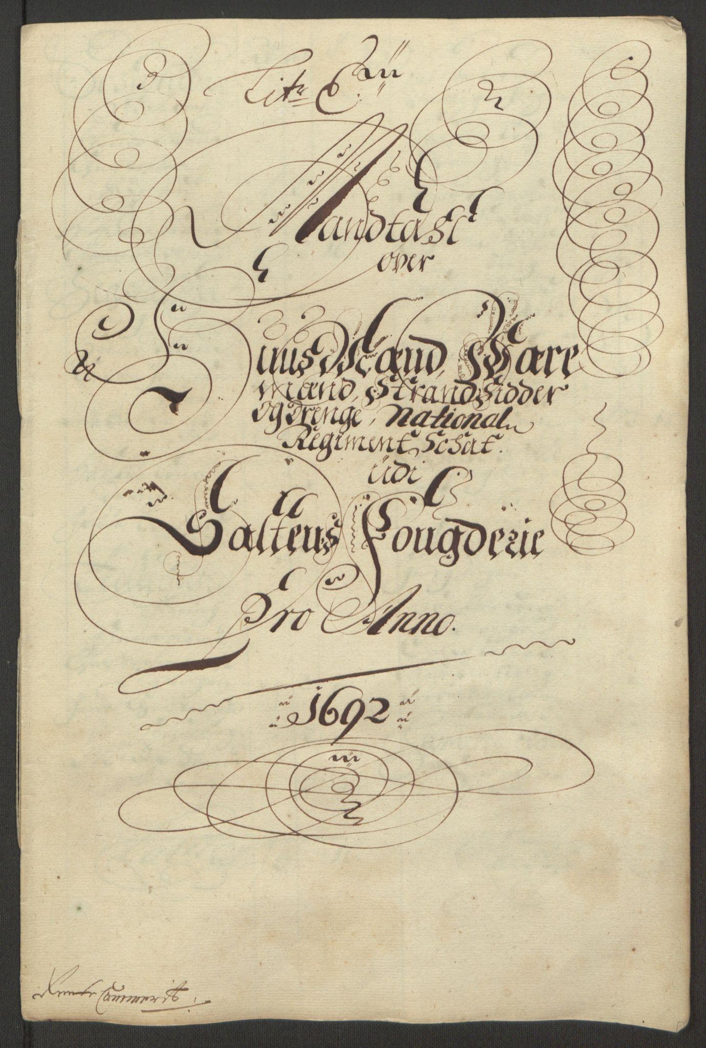RA, Rentekammeret inntil 1814, Reviderte regnskaper, Fogderegnskap, R66/L4577: Fogderegnskap Salten, 1691-1693, s. 179